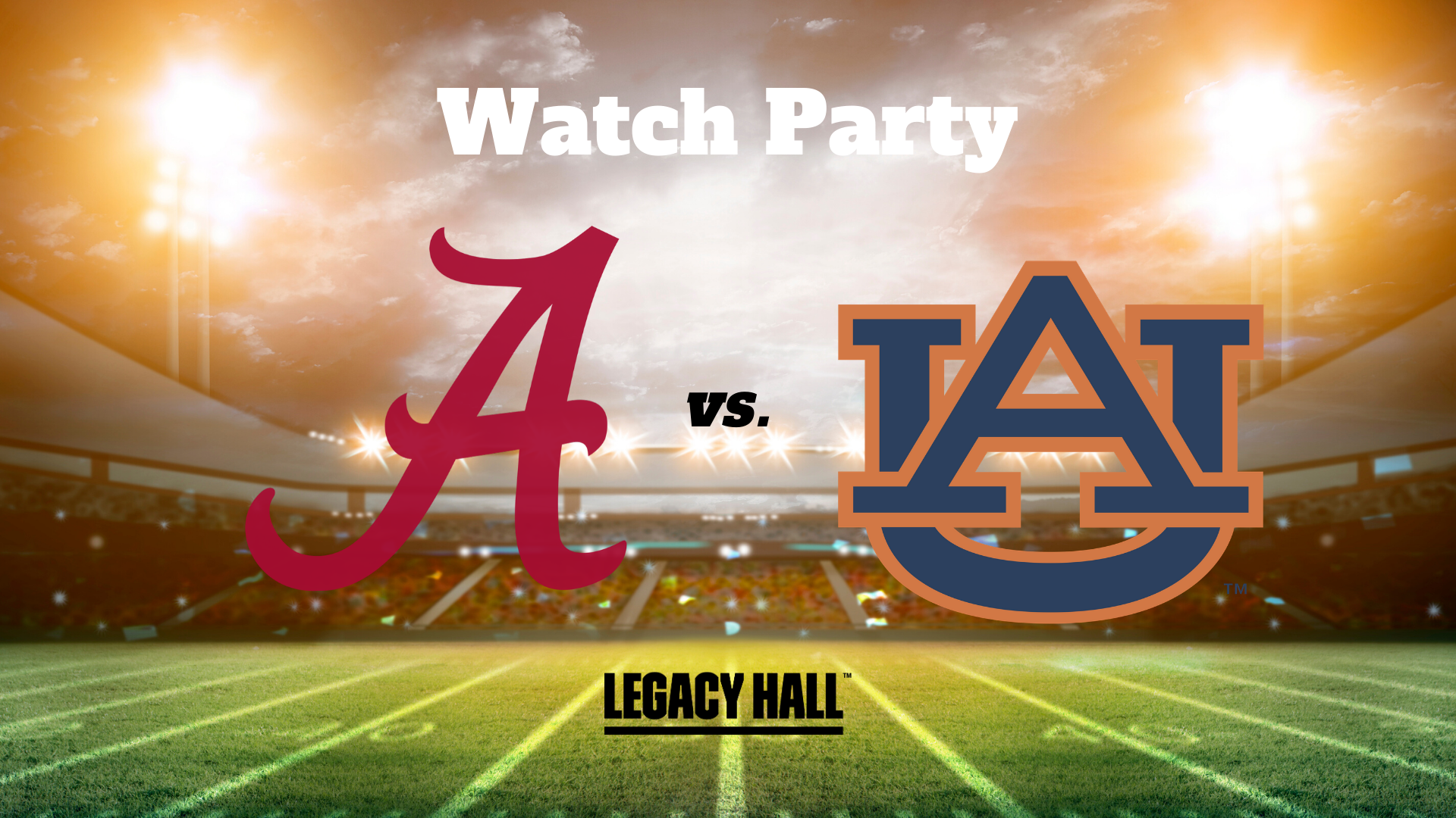 Alabama vs Auburn Watch Party - hero