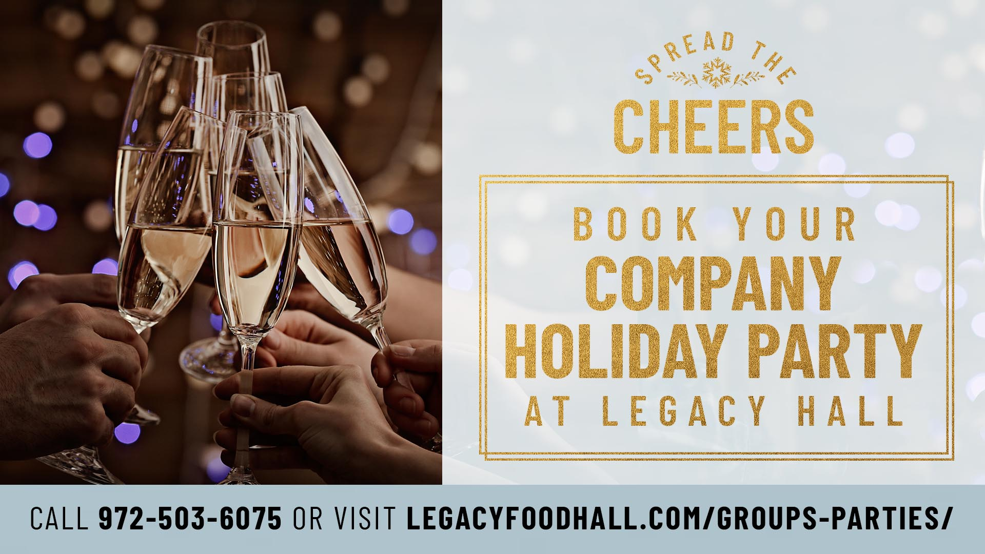 Book your company holiday party