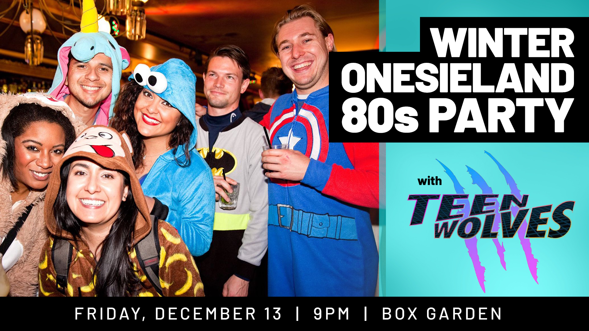 Teen Wolves 80s Movie Tribute Band & Onesie Party - hero