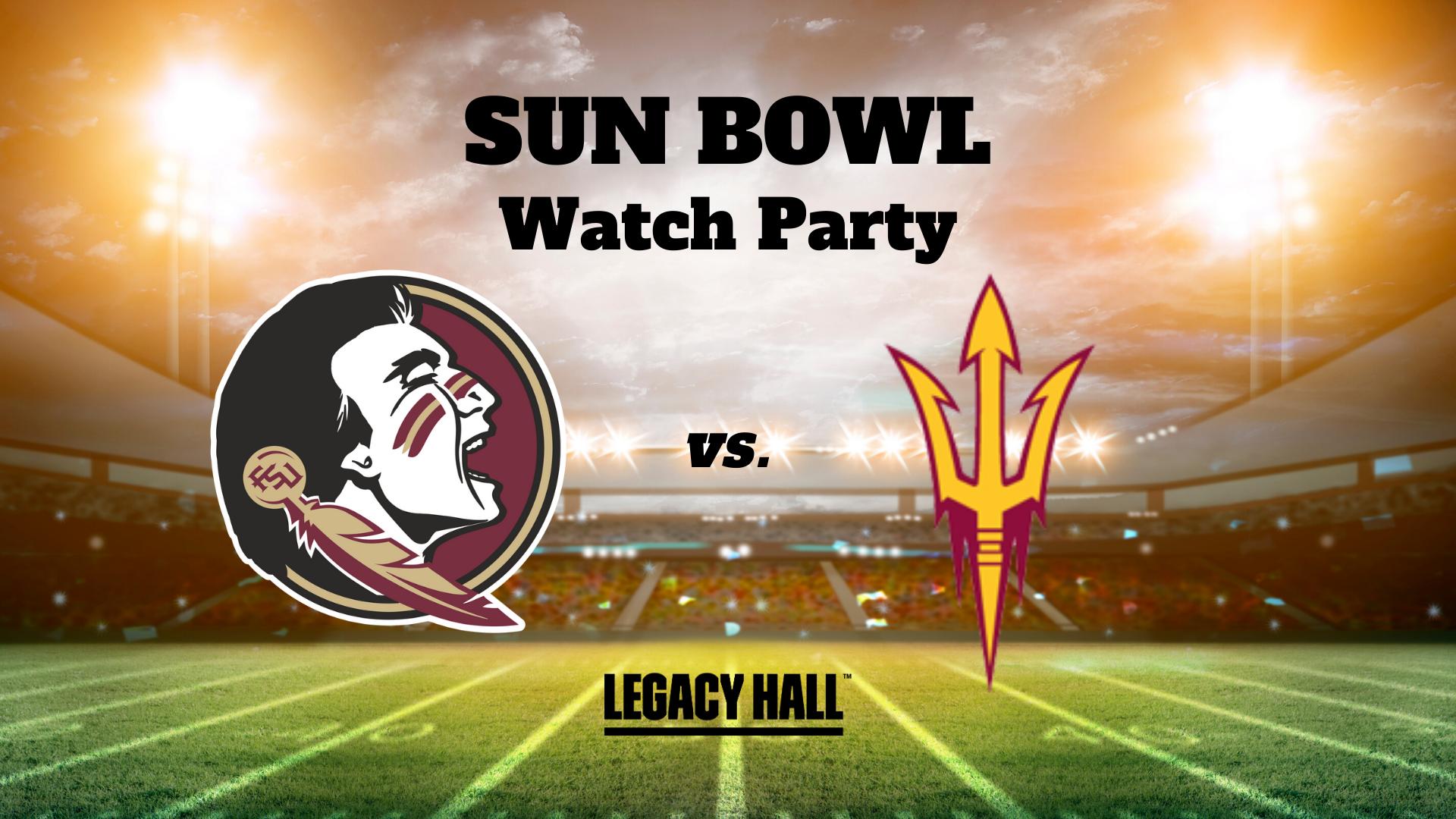 Sun Bowl Watch Party - hero