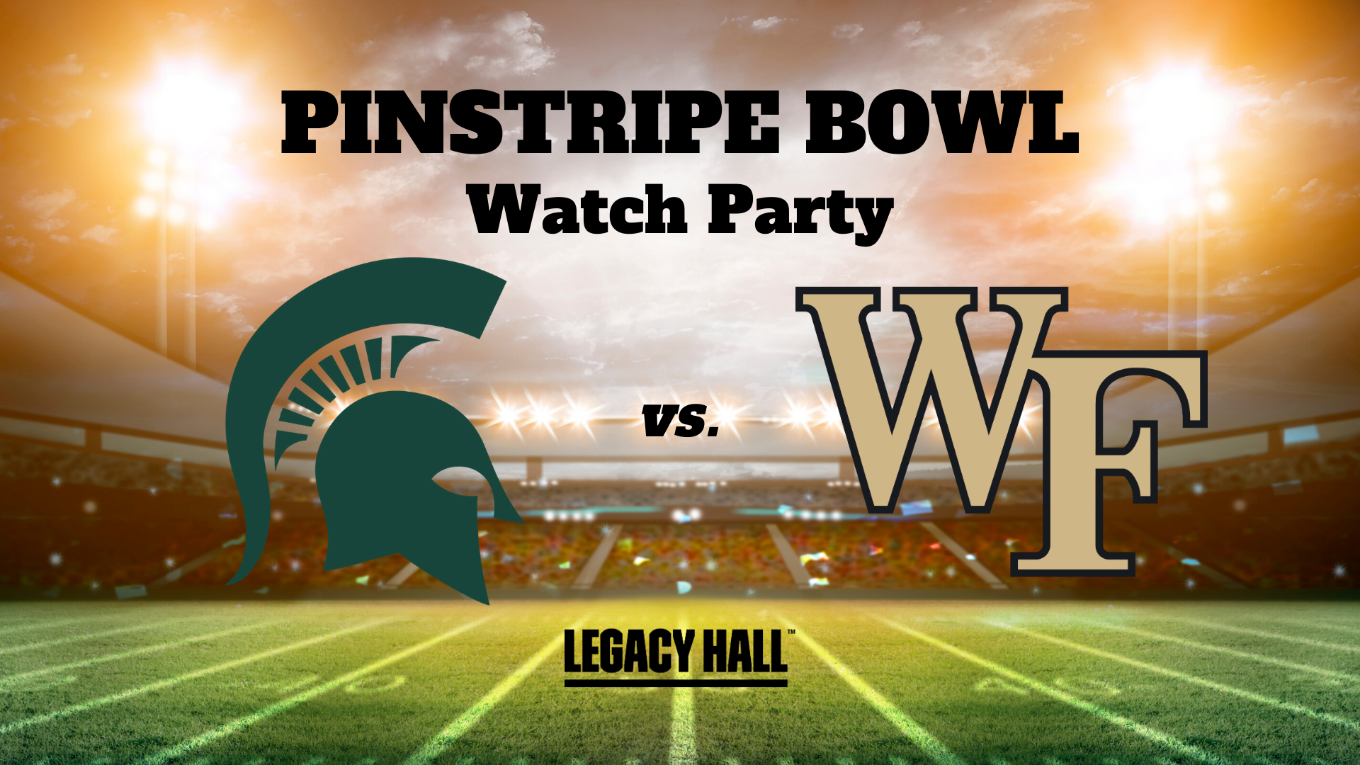Pinstripe Bowl Watch Party - hero