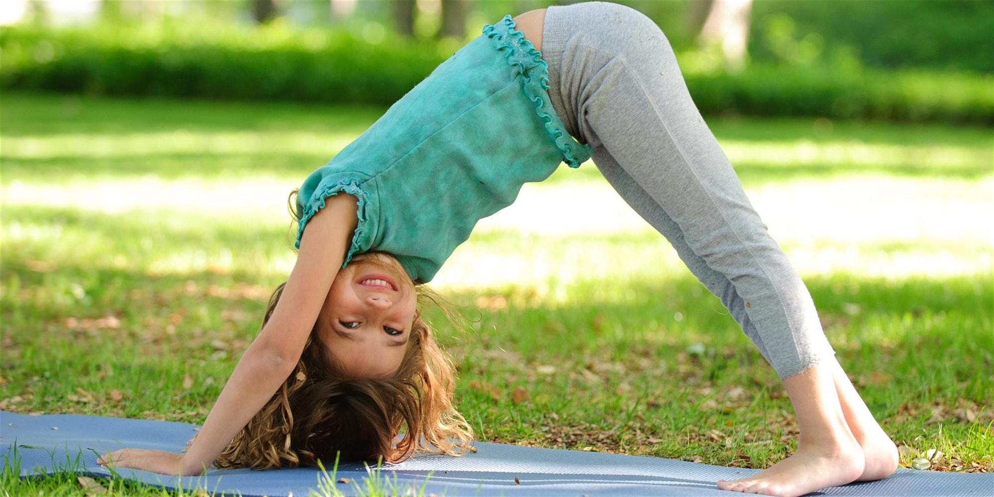 Promo image of Free Kids Yoga Class + Field Day