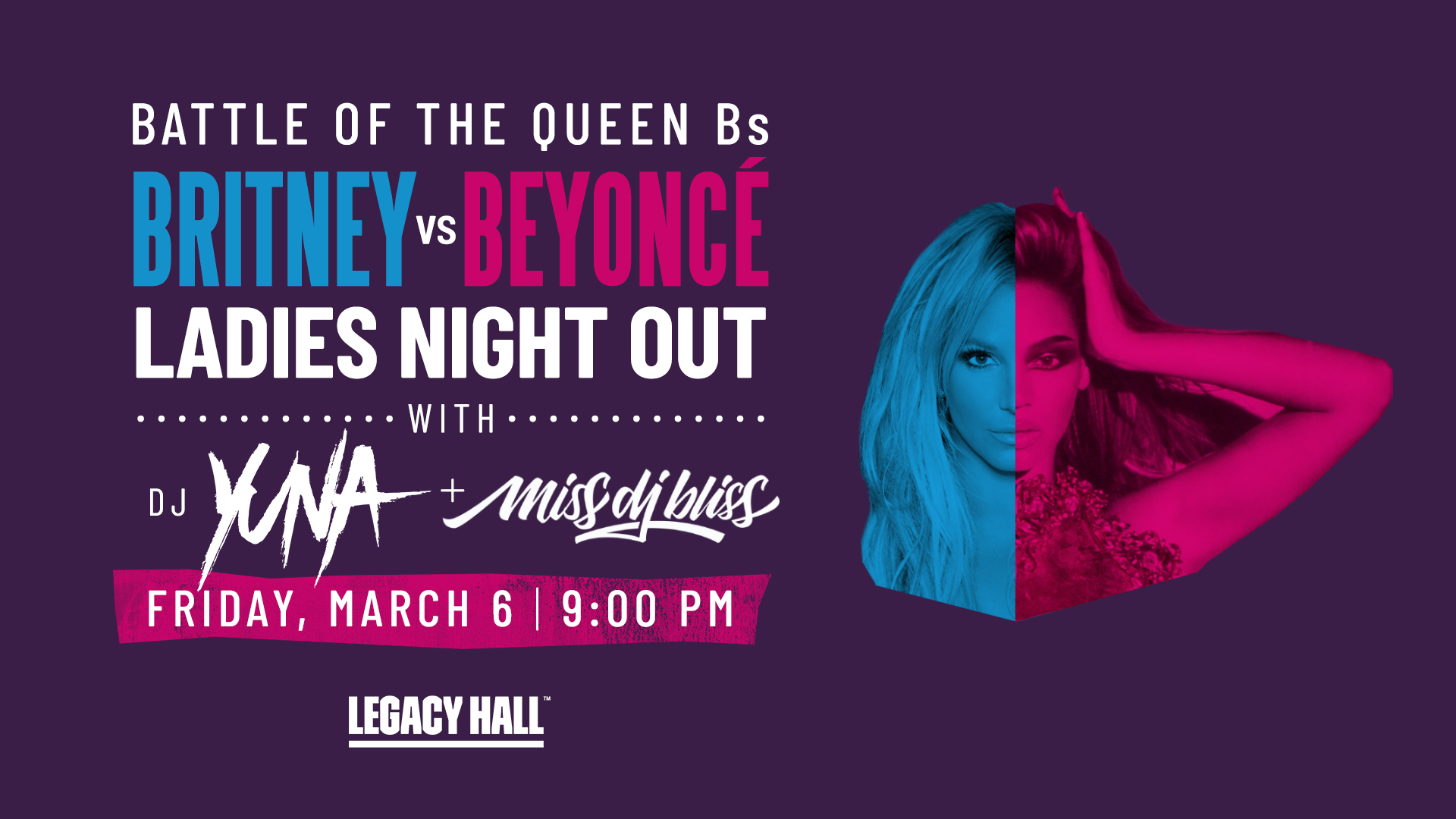 Promo image of Britney vs. Beyonce Ladies Night Out
