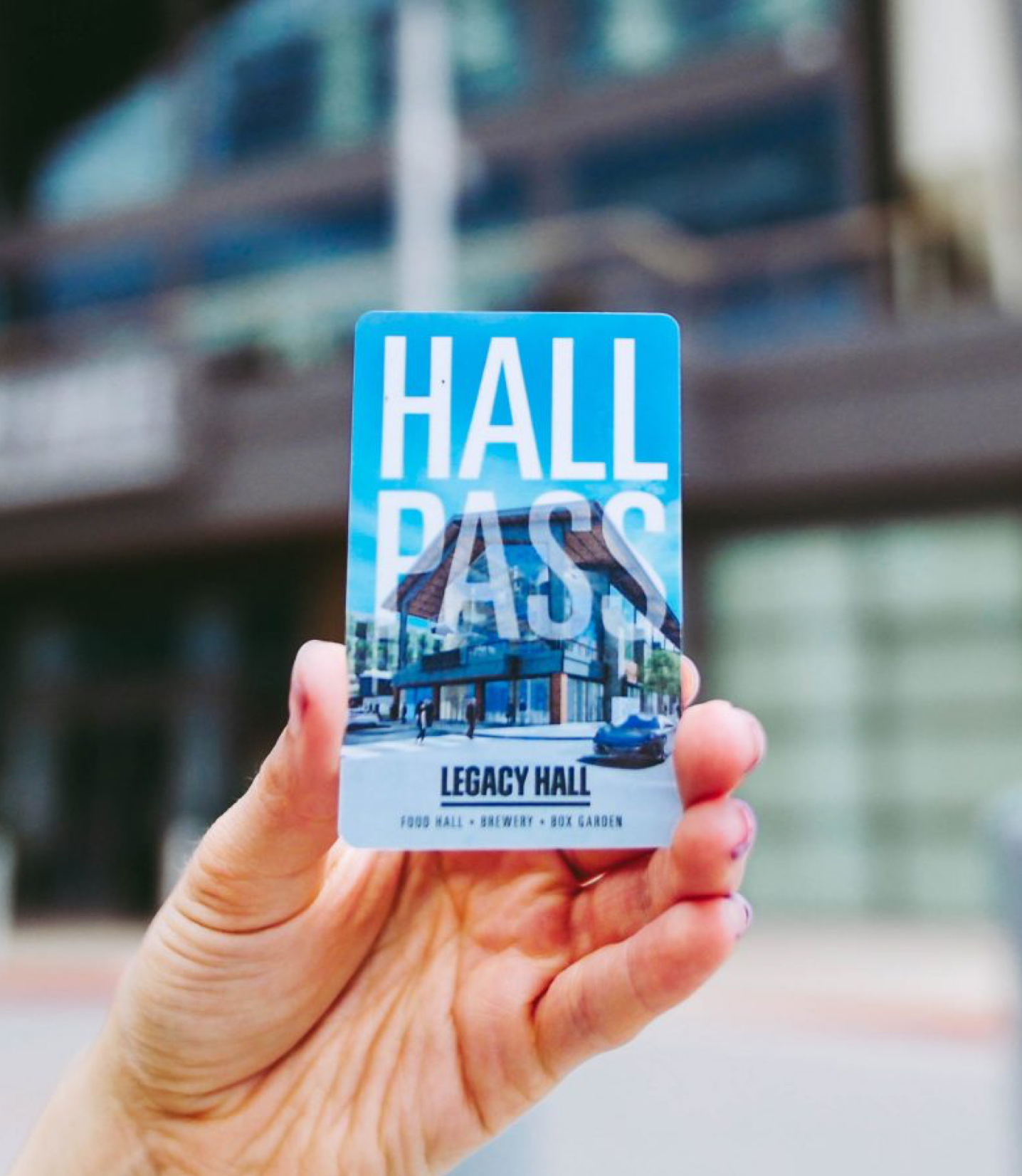 Photograph of the Hall Pass card.