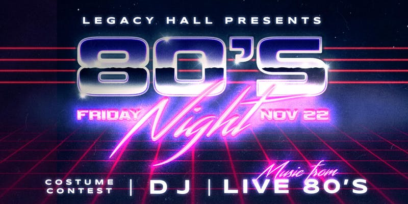 80s Night – The Ultimate 80s Party - hero