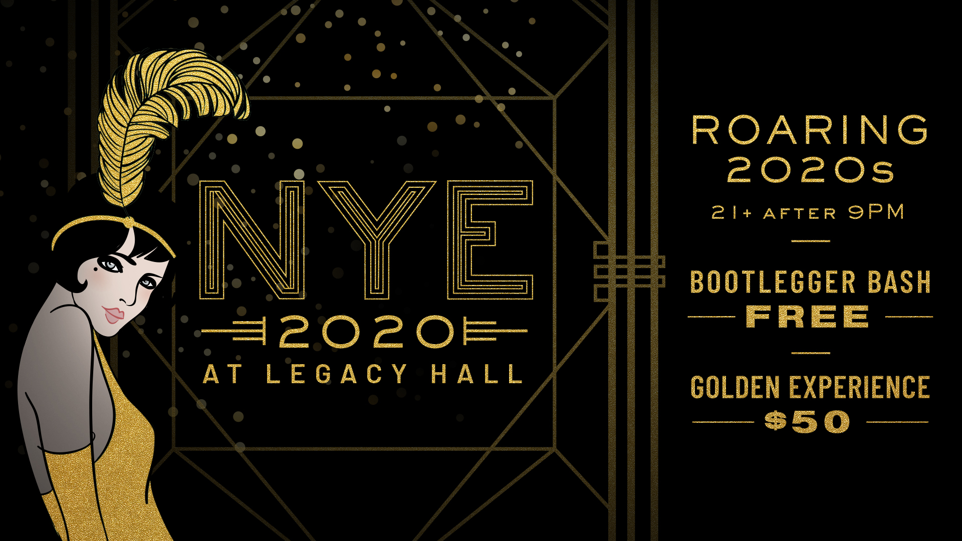 Roaring 2020s NYE at Legacy Hall - hero