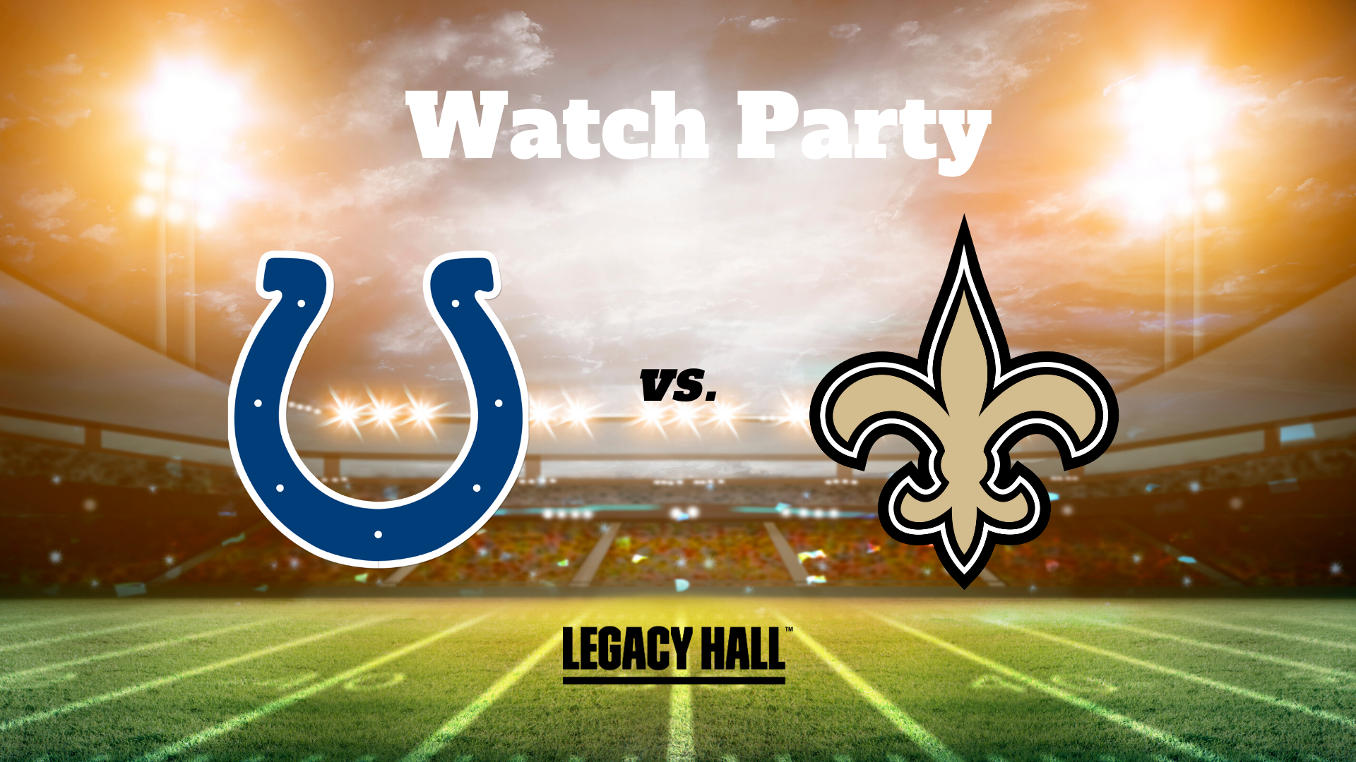 Colts vs. Saints Watch Party - hero