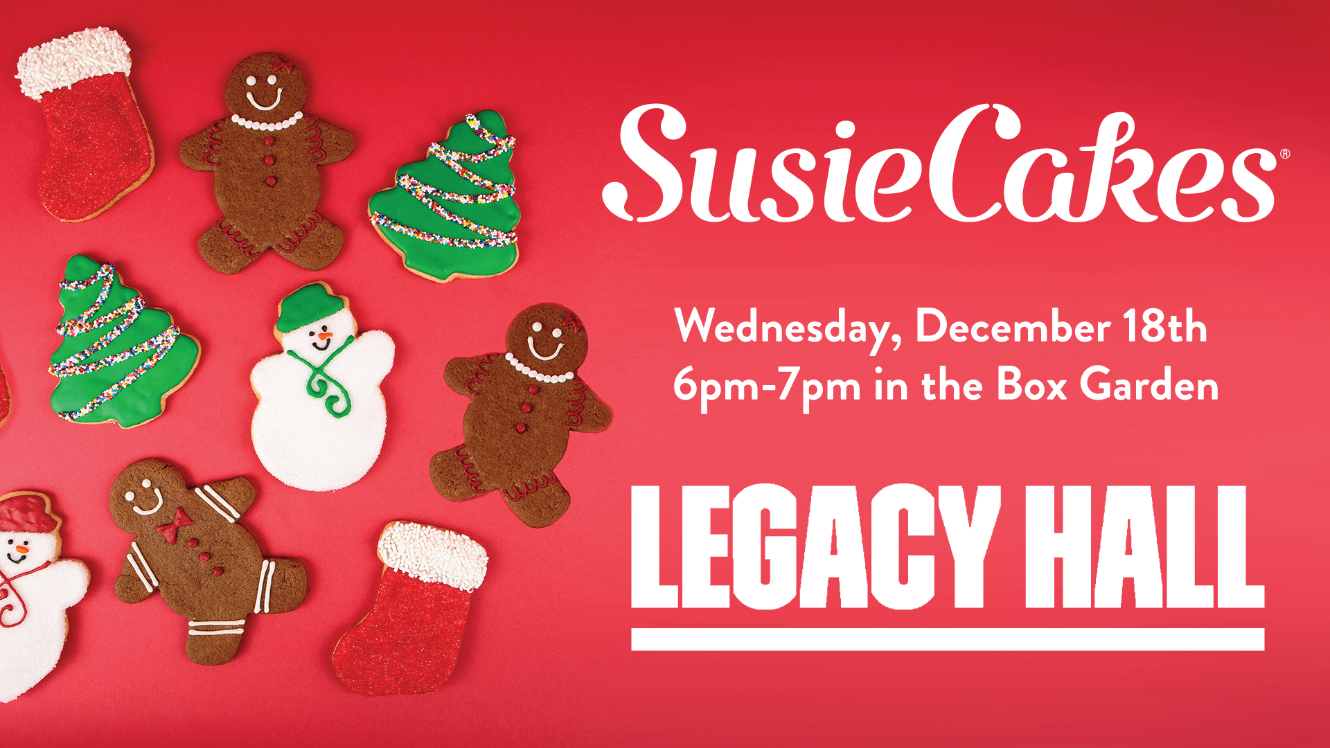 Holiday Cookie Decorating Class at Legacy Hall - hero