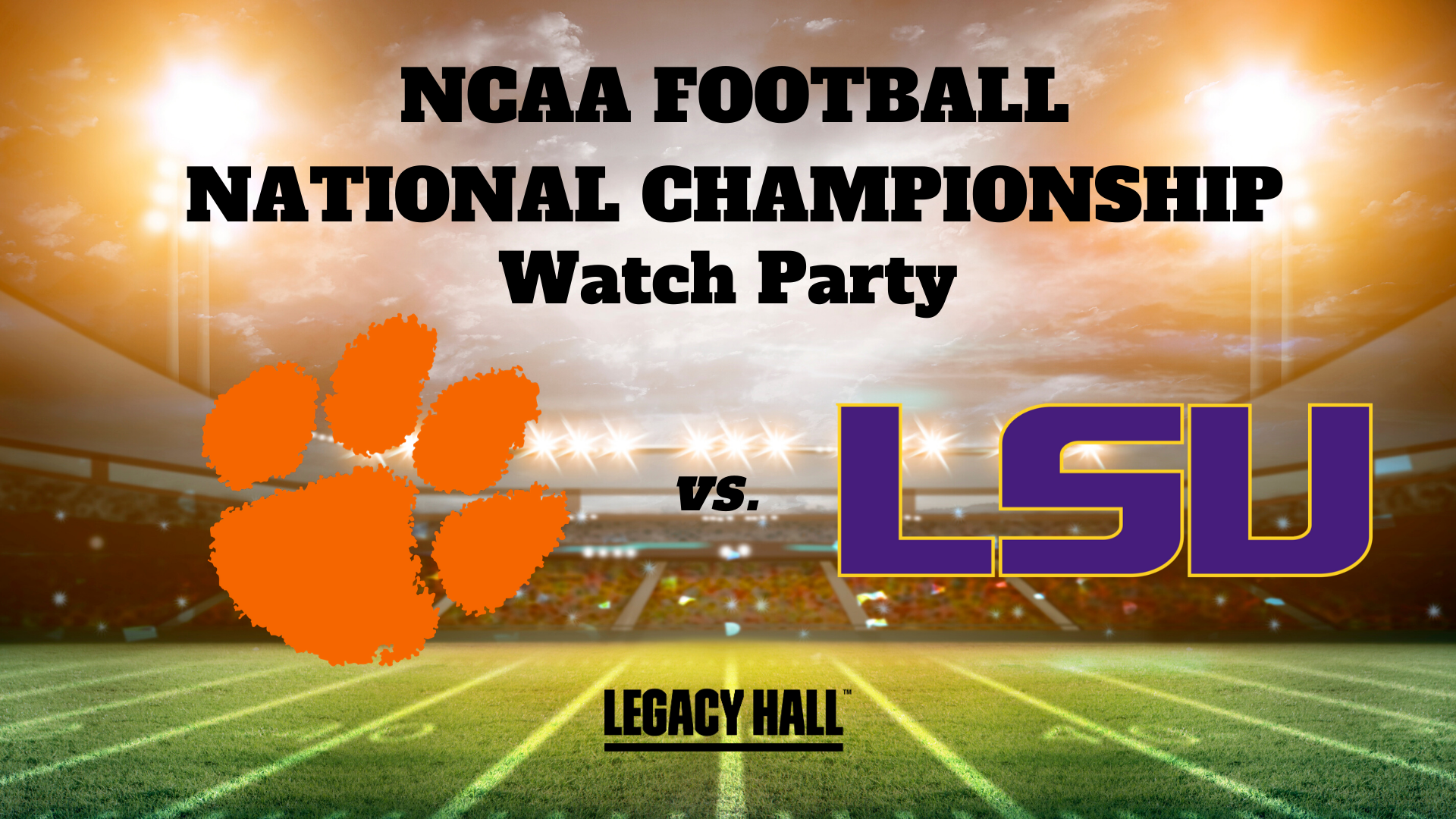 NCAA National Championship Watch Party - hero