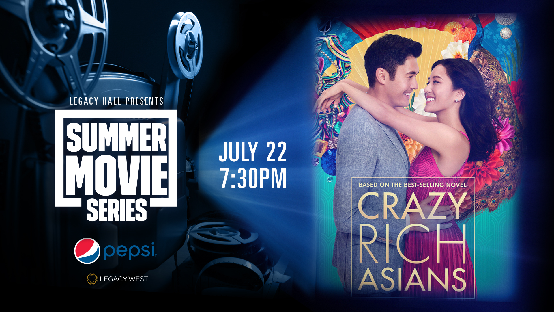 Promo image of Pepsi Summer Movie Series: Crazy Rich Asians