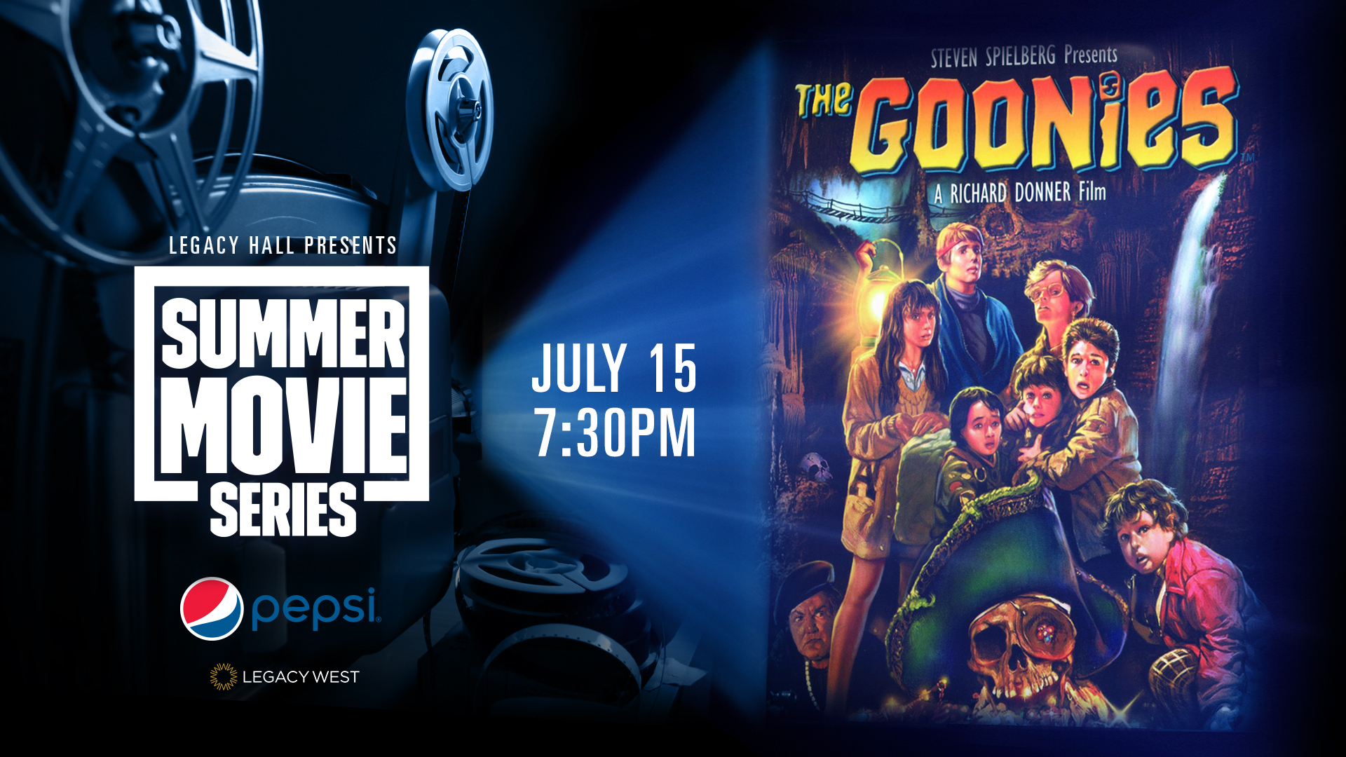 Promo image of Pepsi Summer Movie Series: The Goonies
