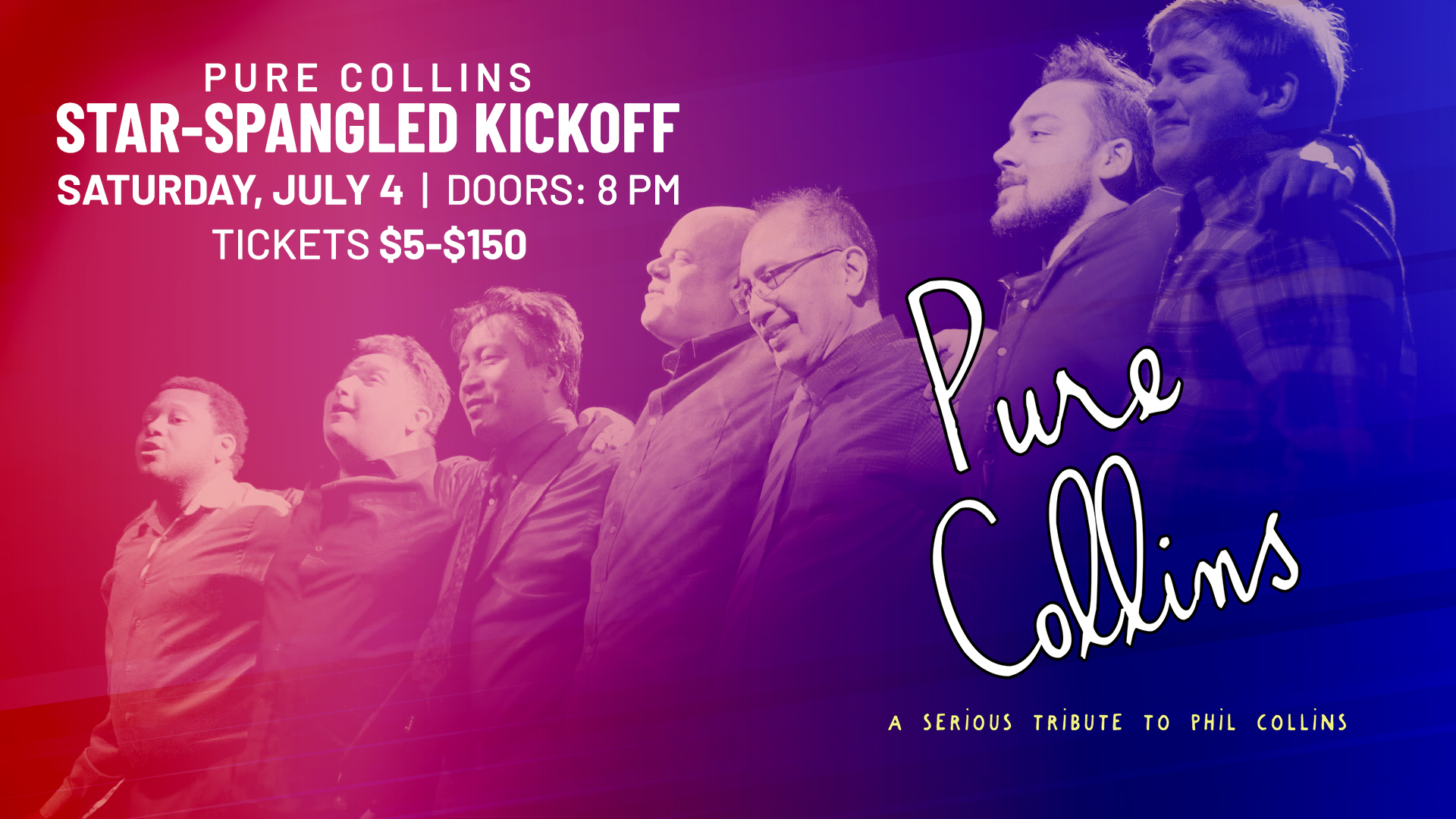 Star Spangled Kickoff with Pure Collins: A Tribute to Phil Collins - hero