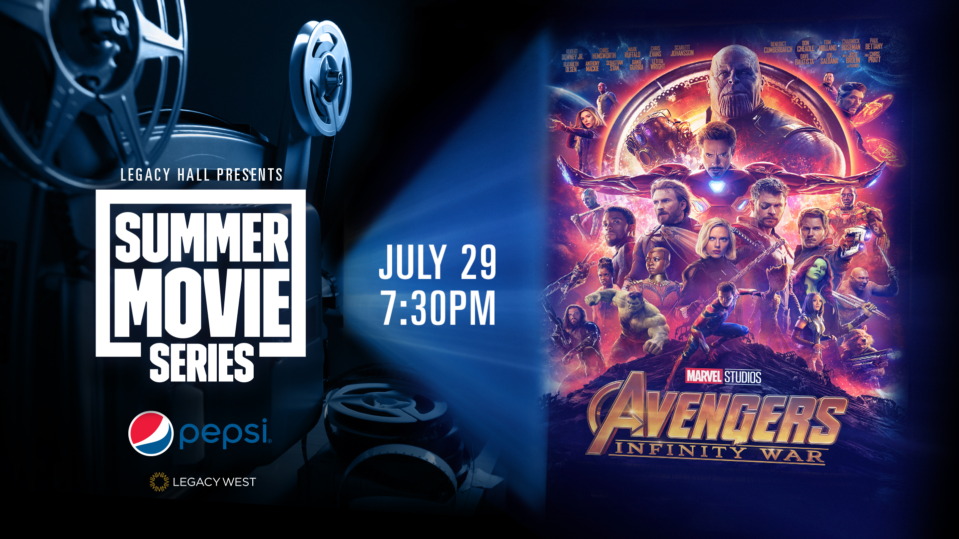 Promo image of Pepsi Summer Movie Series: Avengers: Infinity War