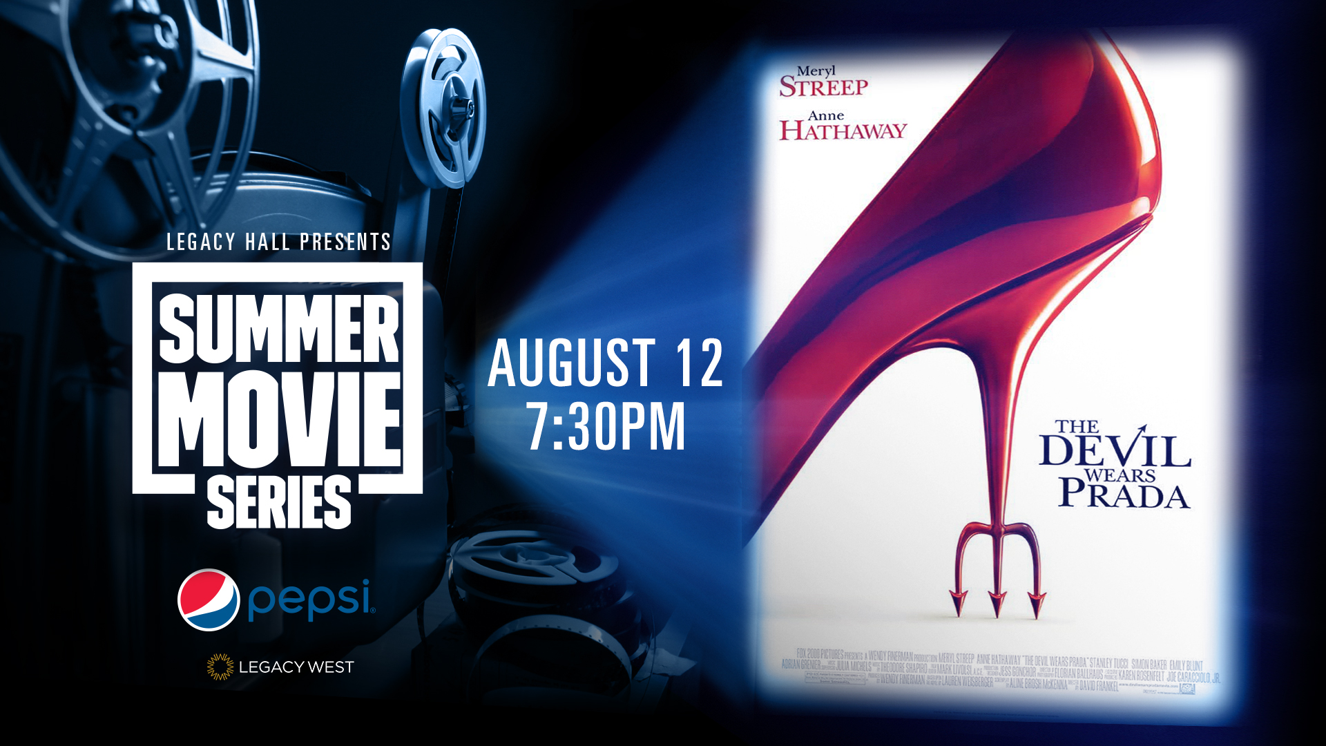 Promo image of Pepsi Summer Movie Series: The Devil Wears Prada