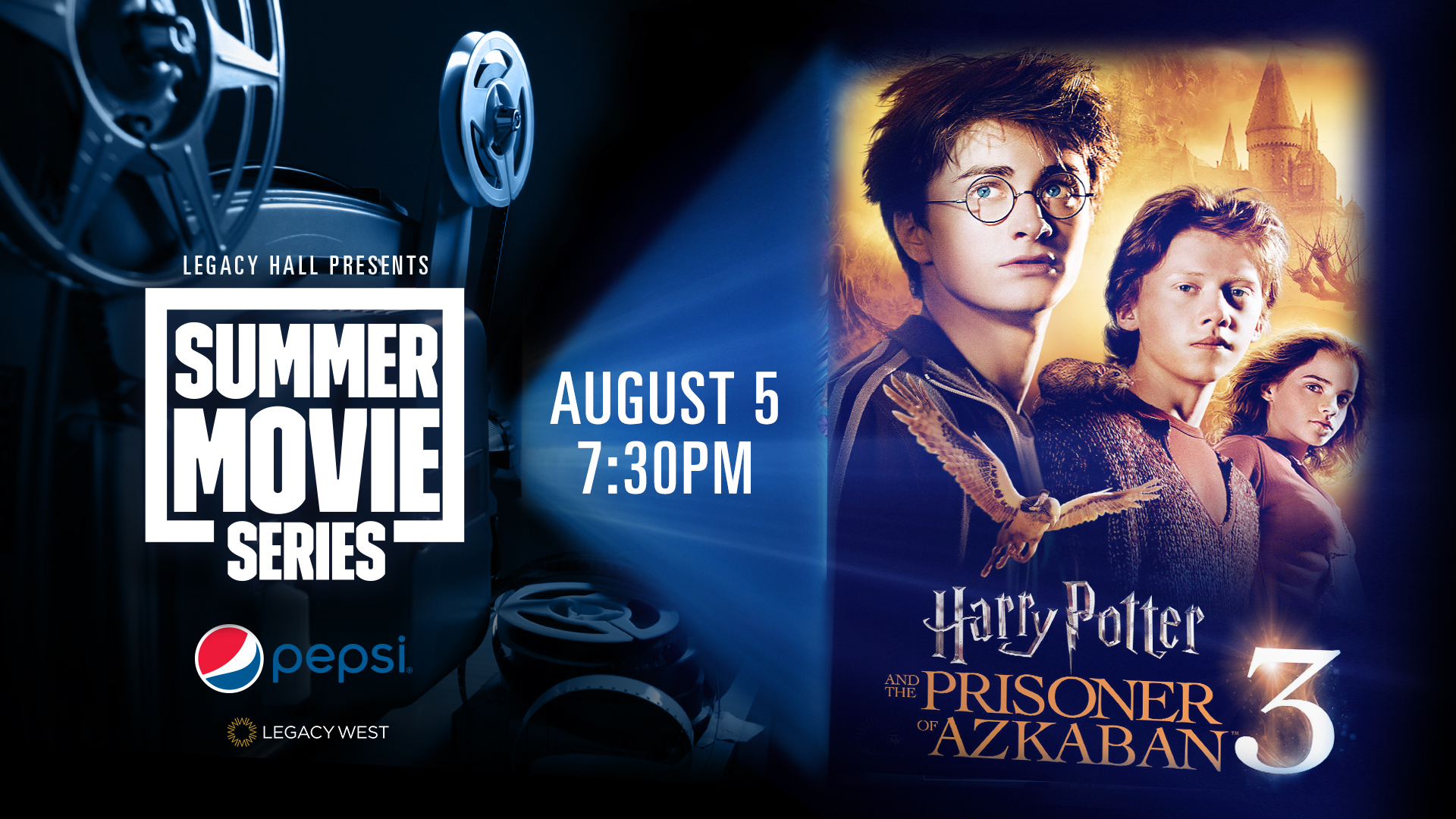 Promo image of Pepsi Summer Movie Series: Harry Potter & the Prisoner of Azkaban