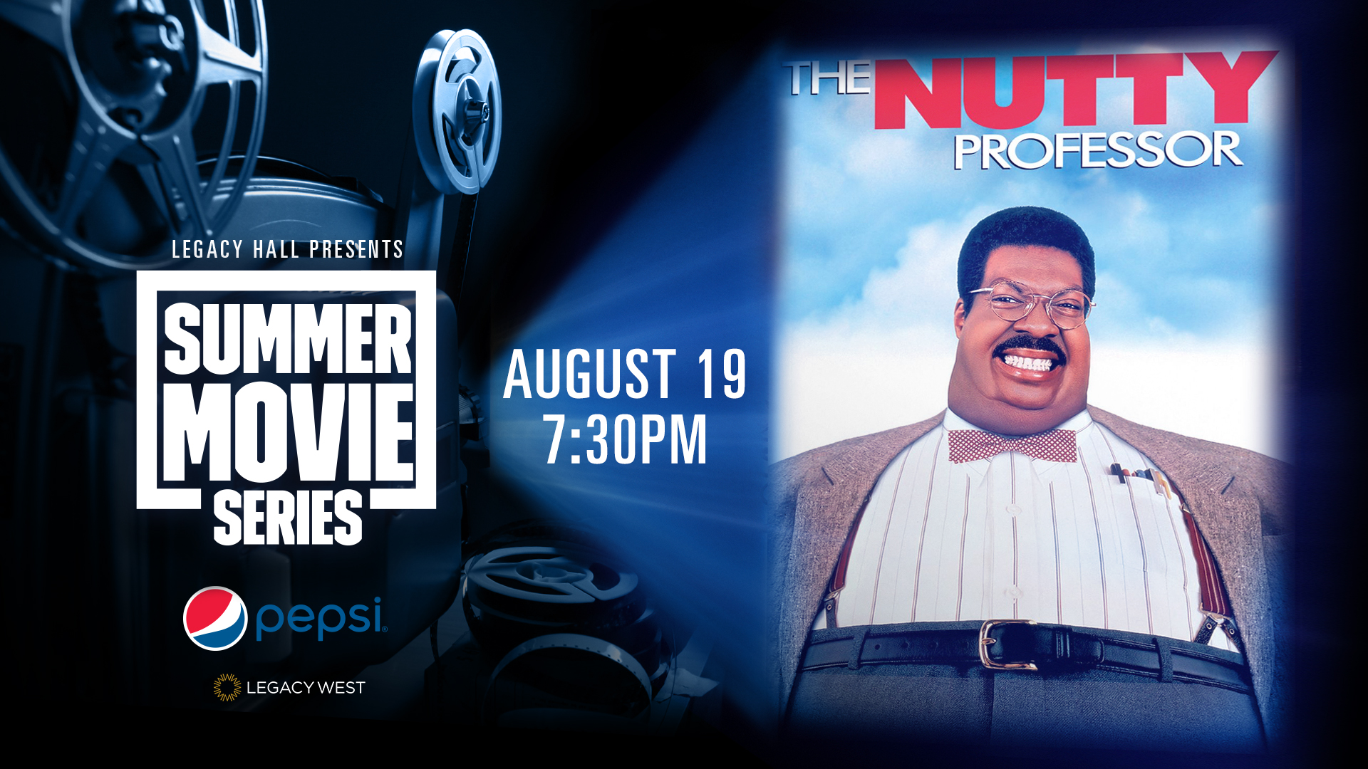 Promo image of Pepsi Summer Movie Series: The Nutty Professor