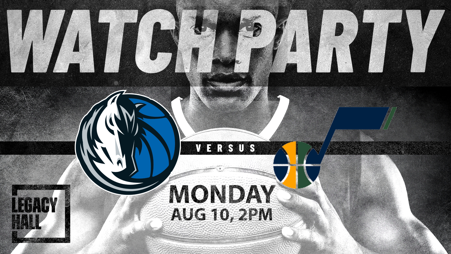 Promo image of Mavericks vs. Jazz Watch Party