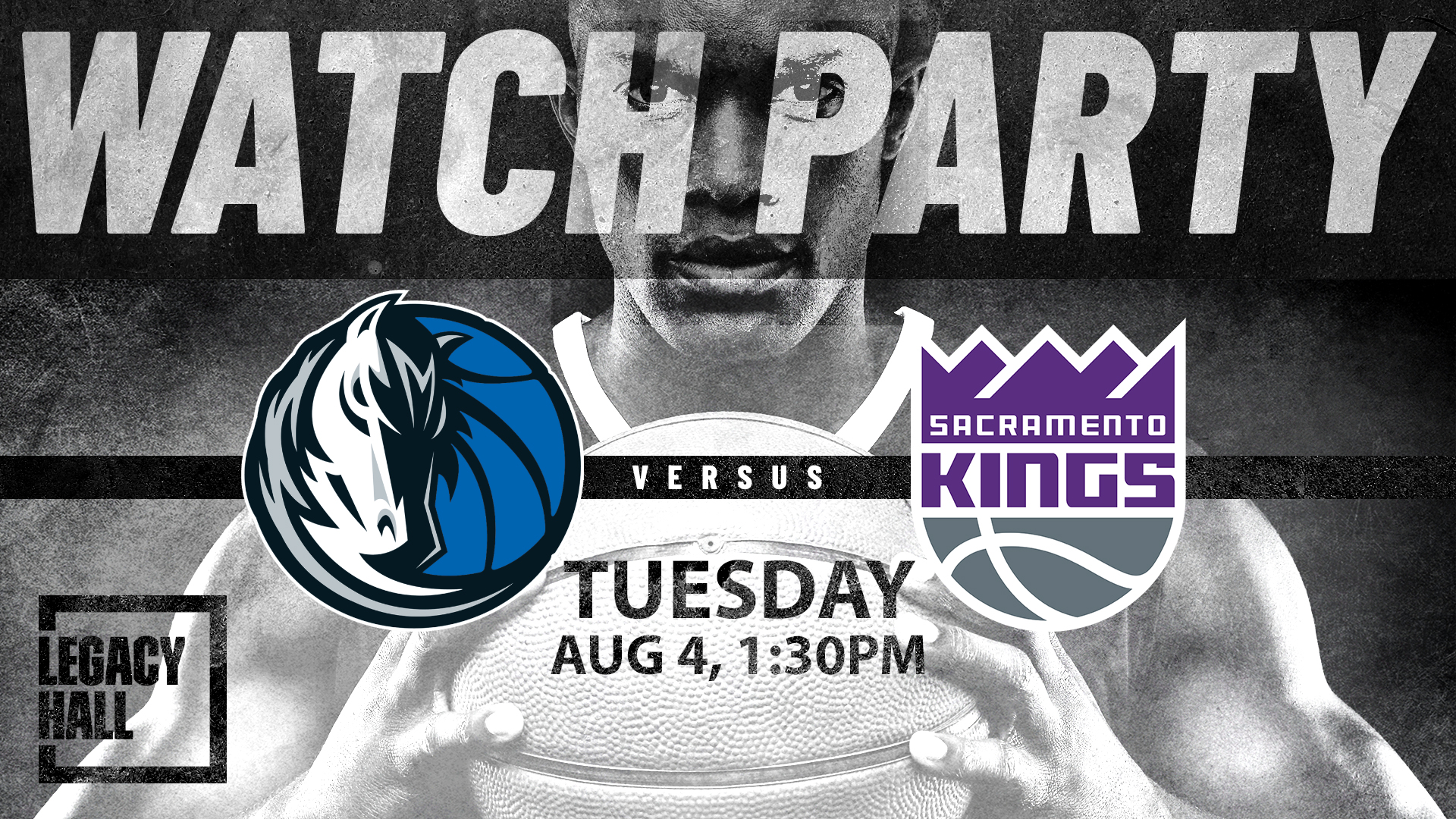 Promo image of Mavericks vs. Kings Watch Party