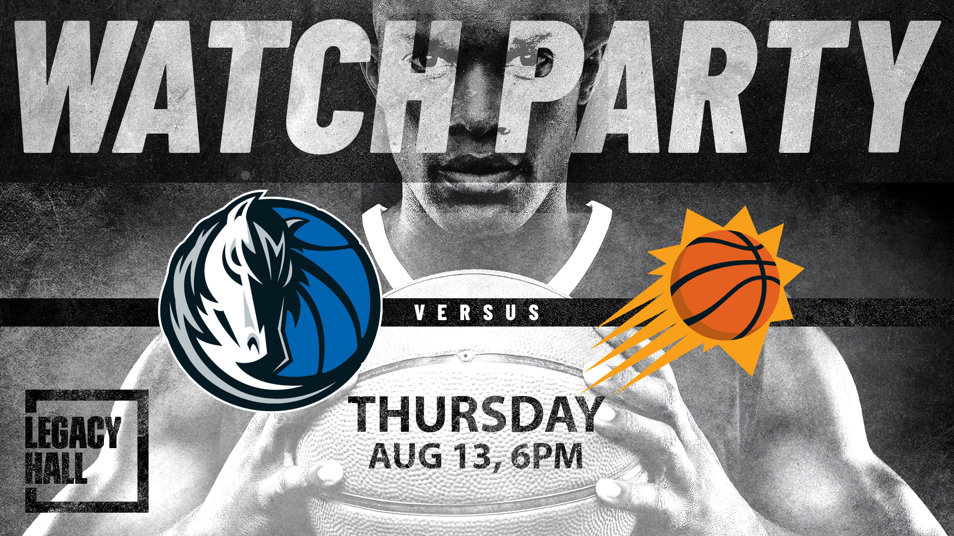 Promo image of Mavericks vs. Suns Watch Party
