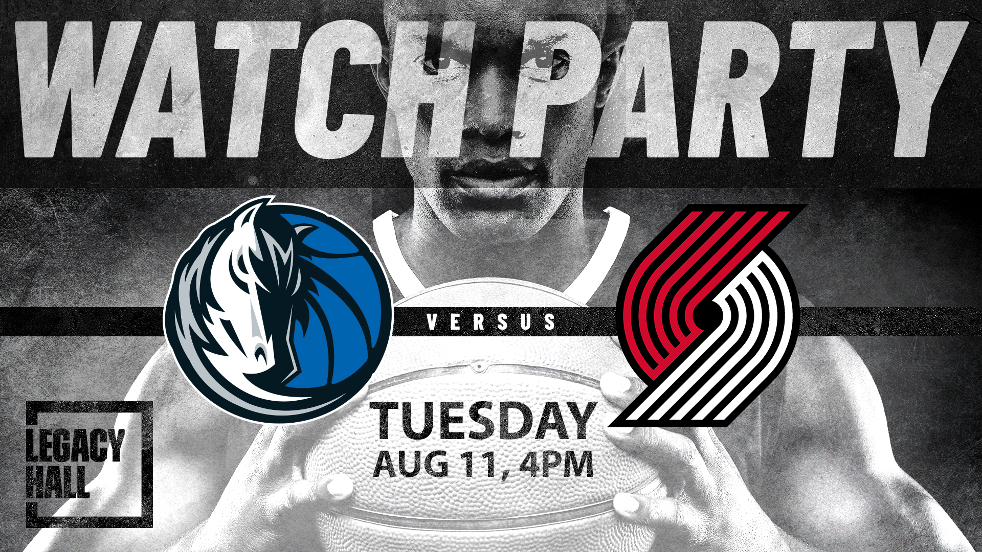 Promo image of Mavericks vs. Trailblazers Watch Party