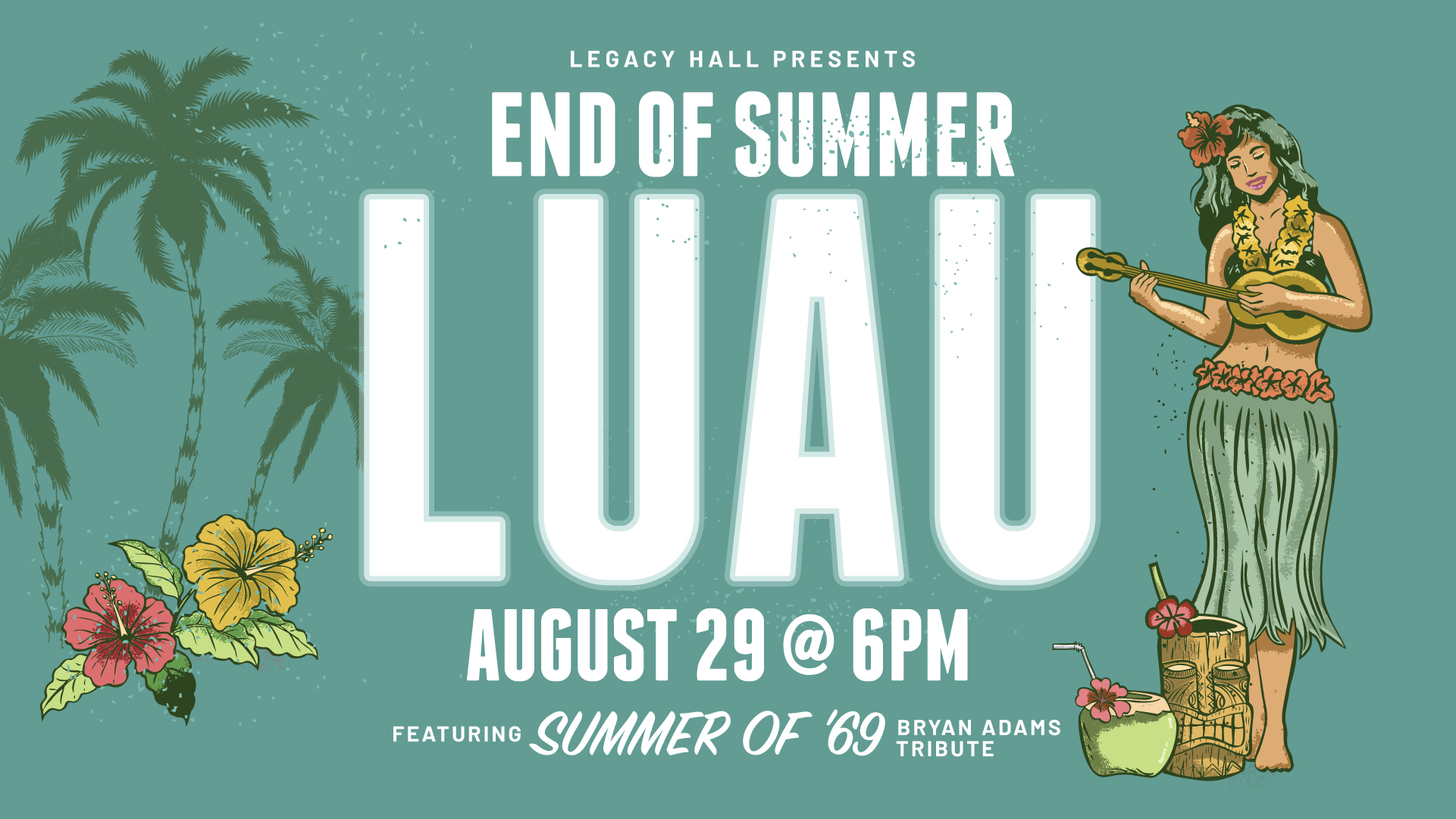 Promo image of End of Summer Luau