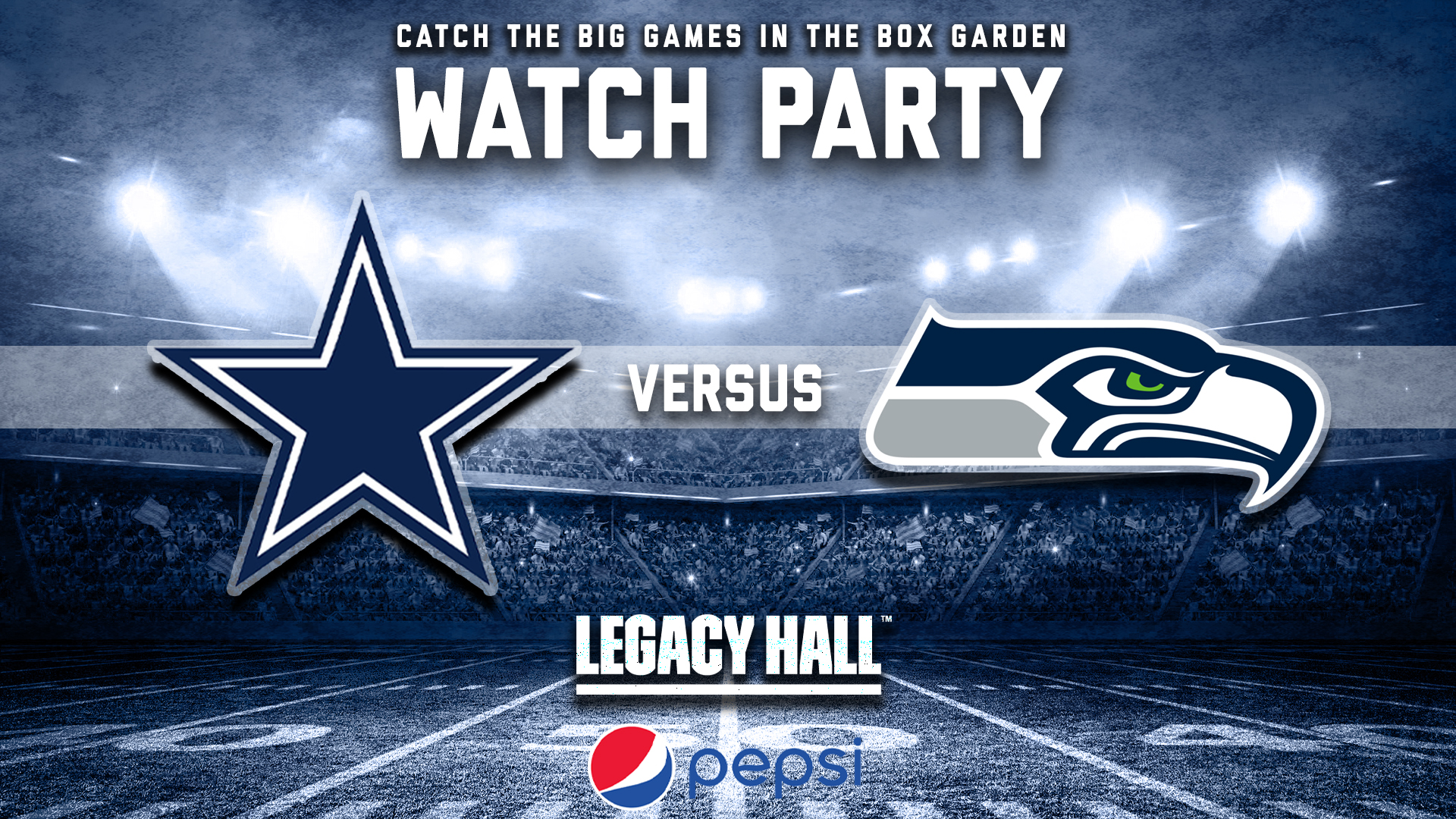 Promo image of Cowboys vs. Seahawks Watch Party