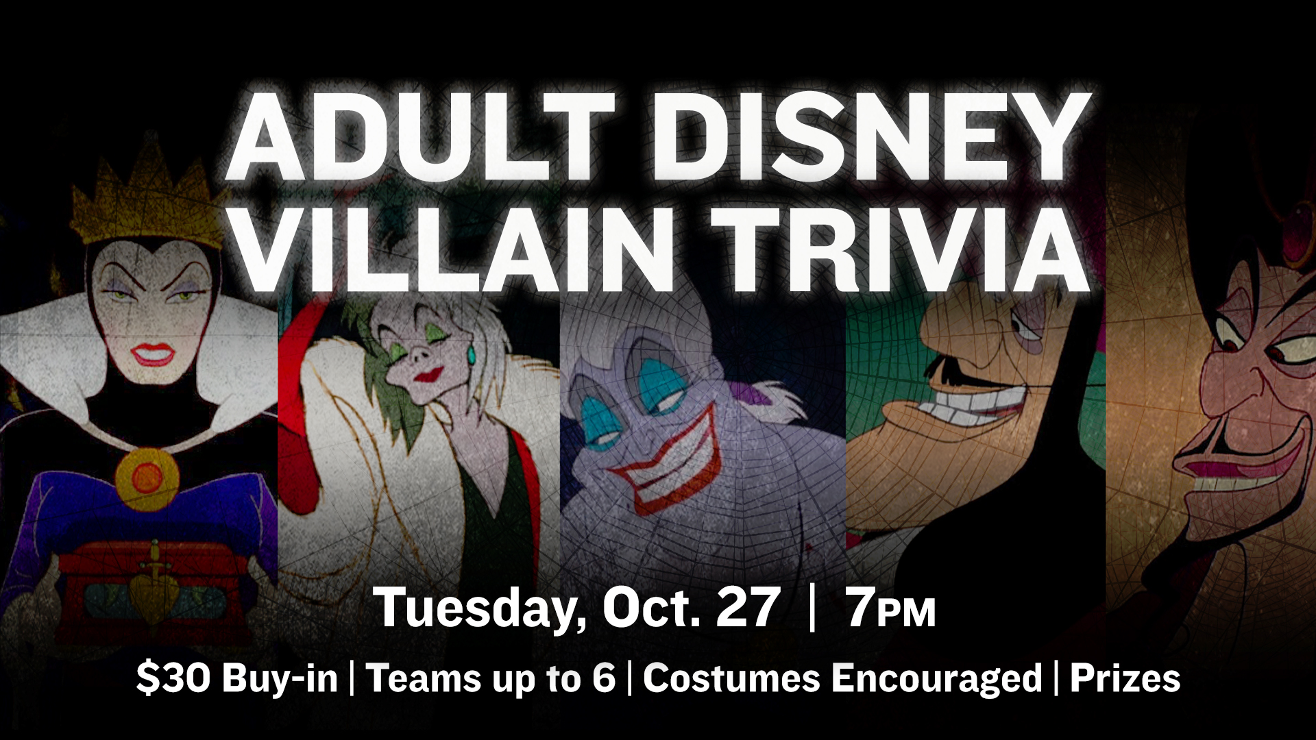 Promo image of Adult Disney Villain Trivia Night