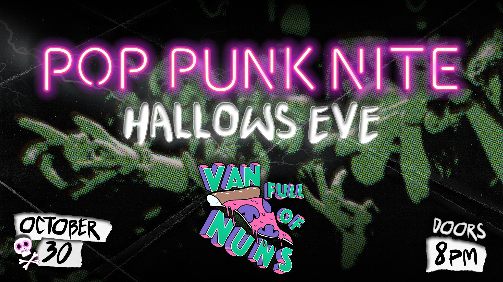 Promo image of Pop Punk Nite: Hallows Eve Party with Van Full Of Nuns