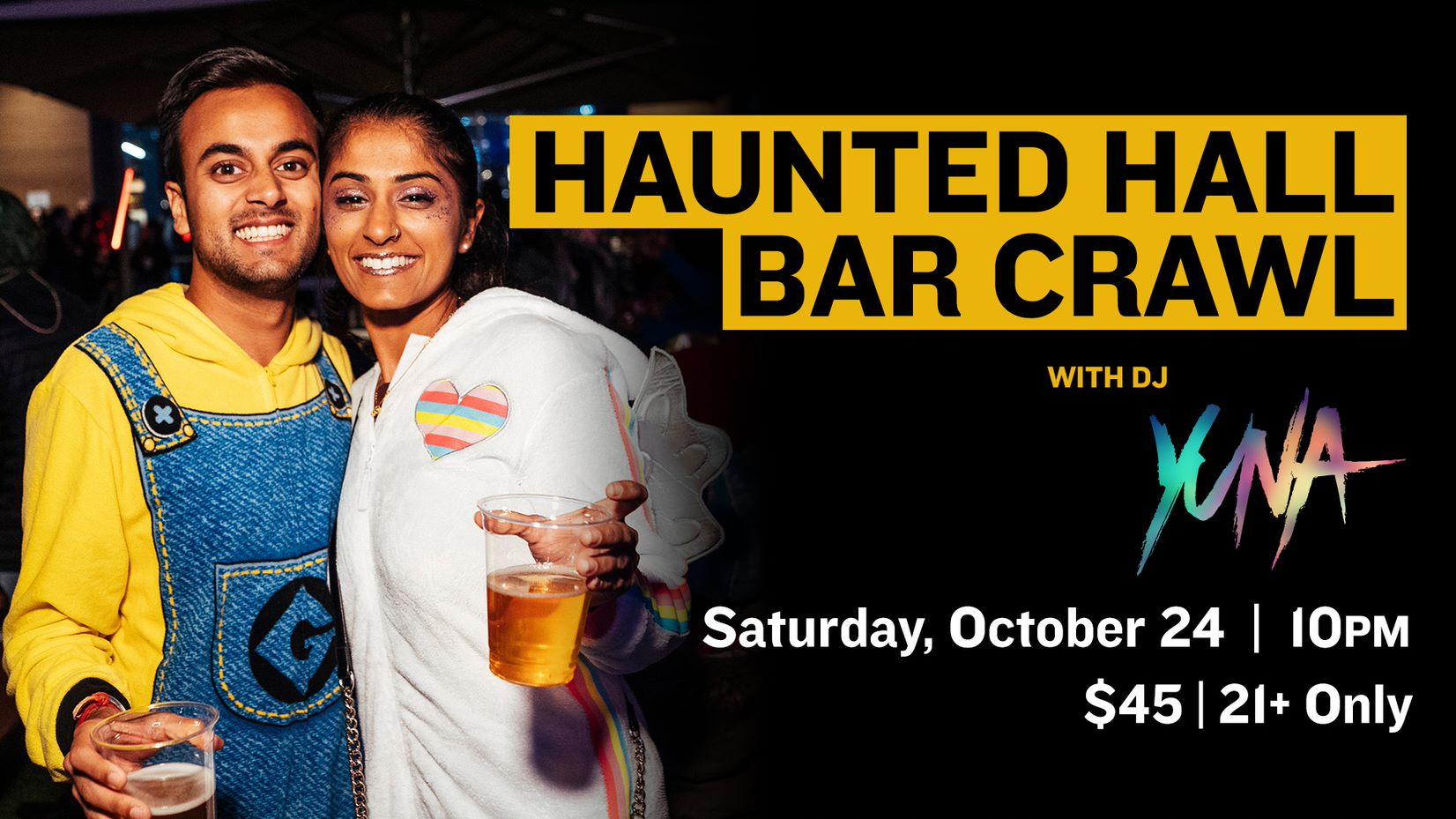 Promo image of Haunted Hall Bar Crawl