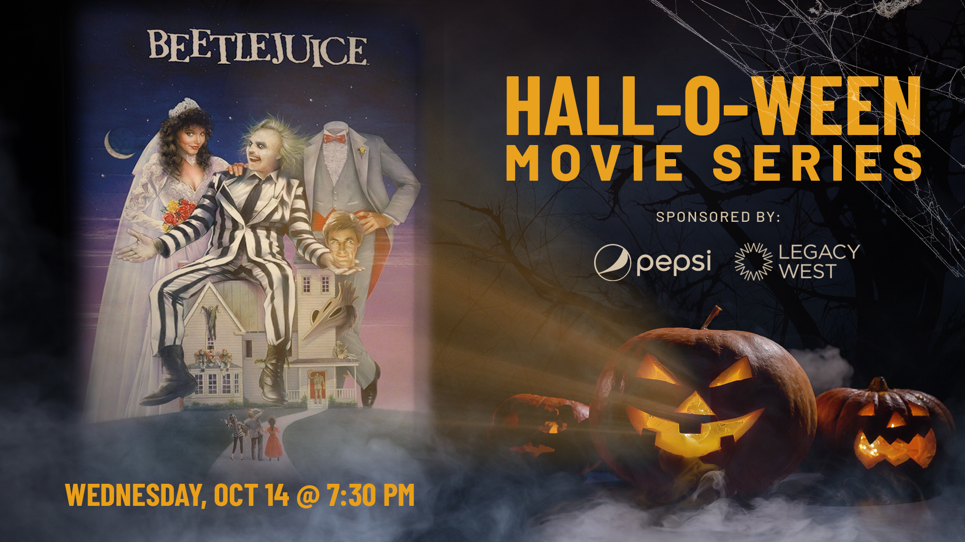 Promo image of Pepsi Hall-O-Ween Movie Series: Beetlejuice