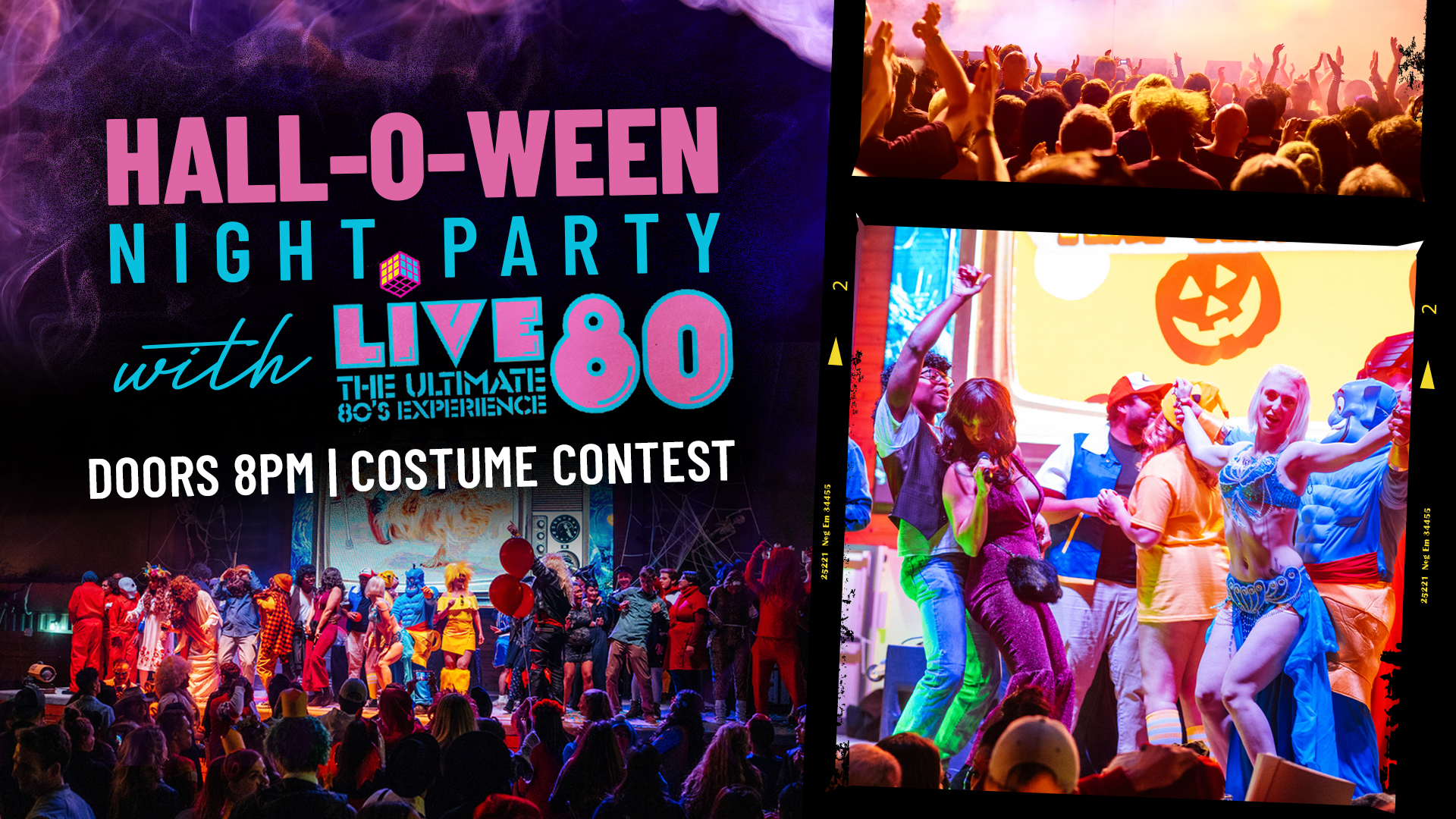 Promo image of Hall-O-Ween Party with LIVE 80 at Legacy Hall