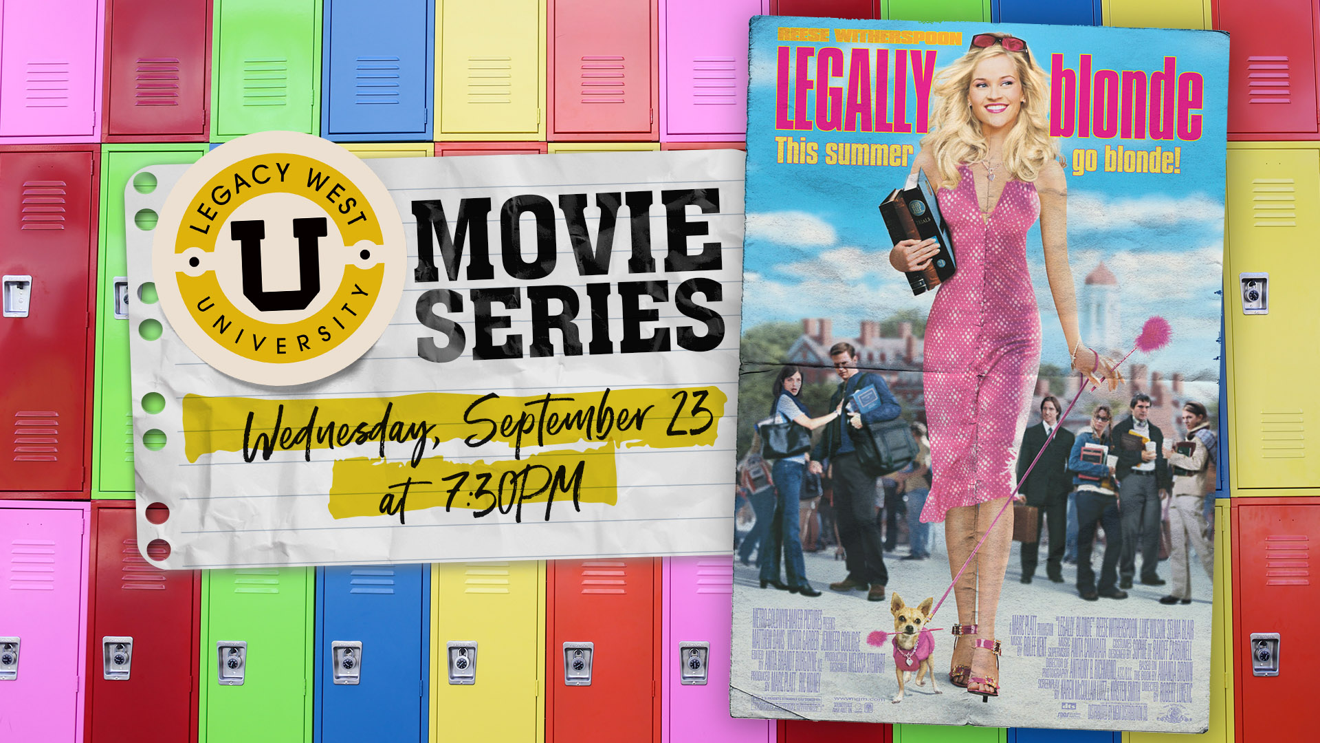Promo image of Legacy West University Movie Series: Legally Blonde