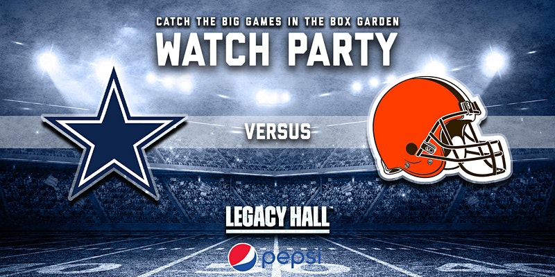 Promo image of Cowboys vs. Browns Watch Party