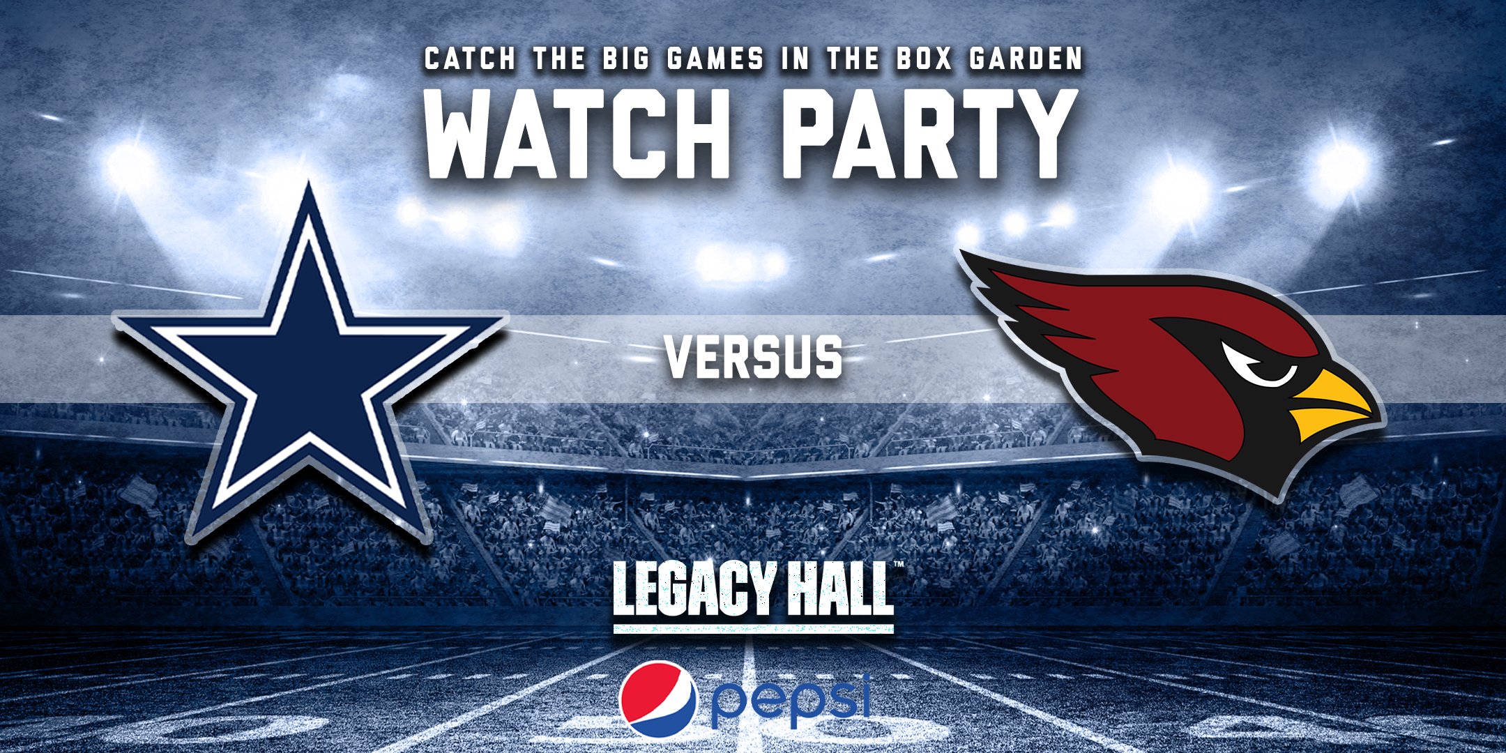 Promo image of Cowboys vs. Cardinals Watch Party