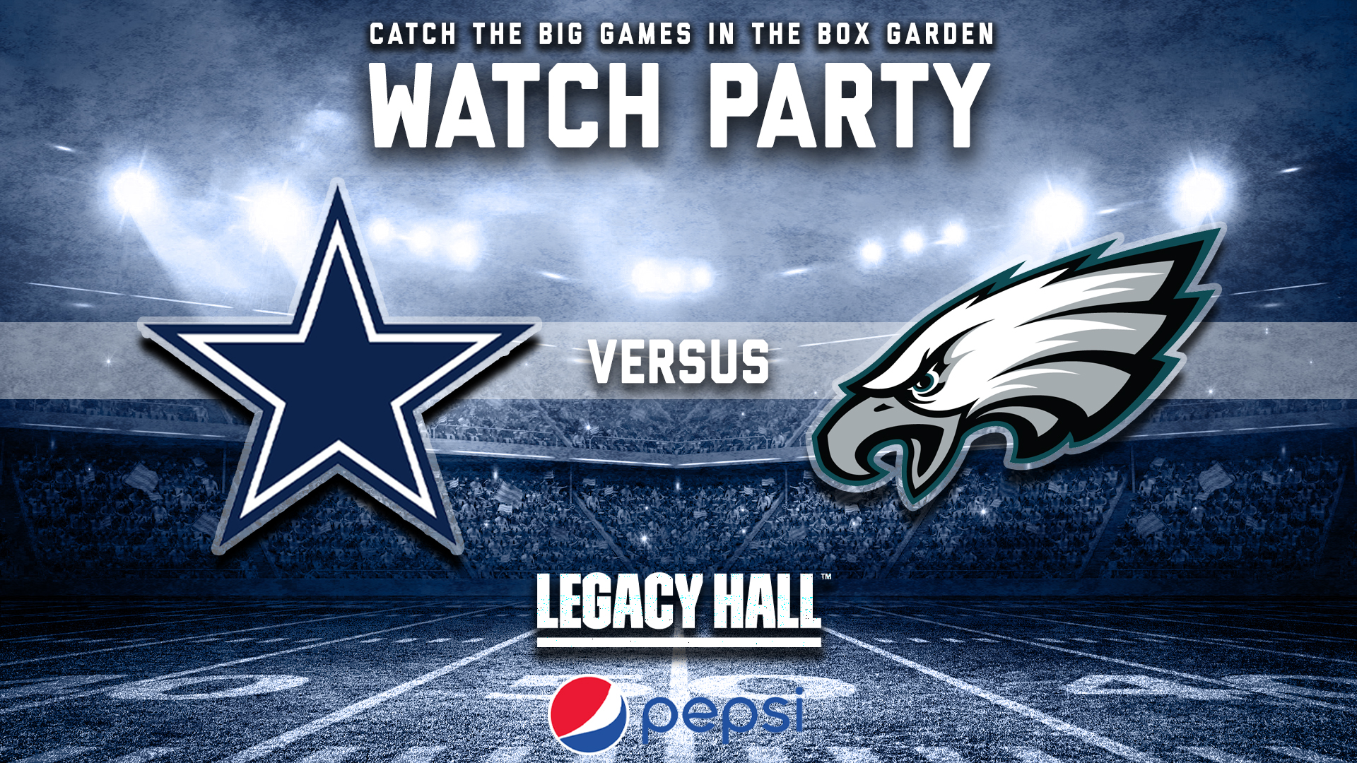 Promo image of Cowboys vs. Eagles Watch Party