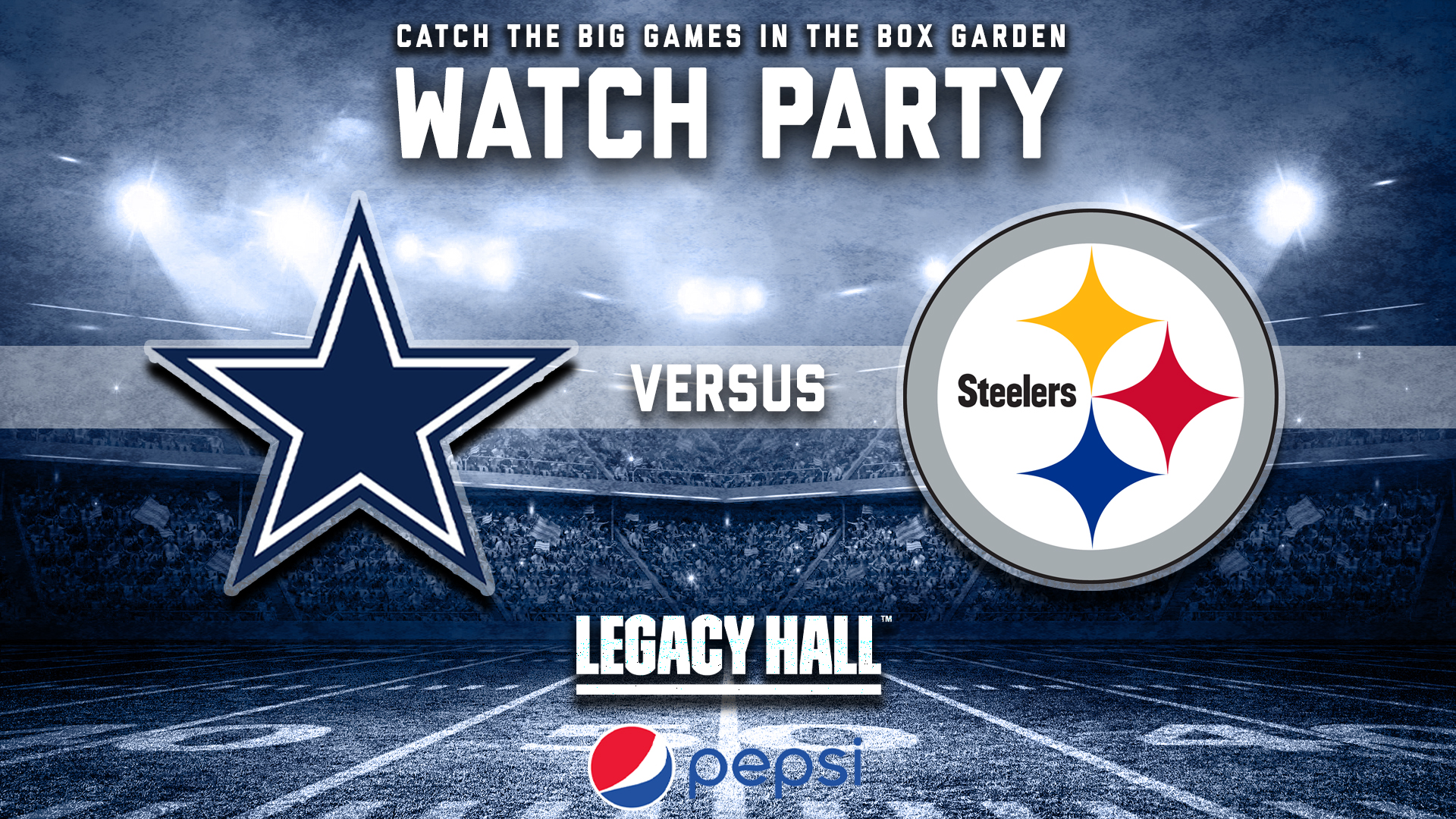 Promo image of Cowboys vs. Steelers Watch Party