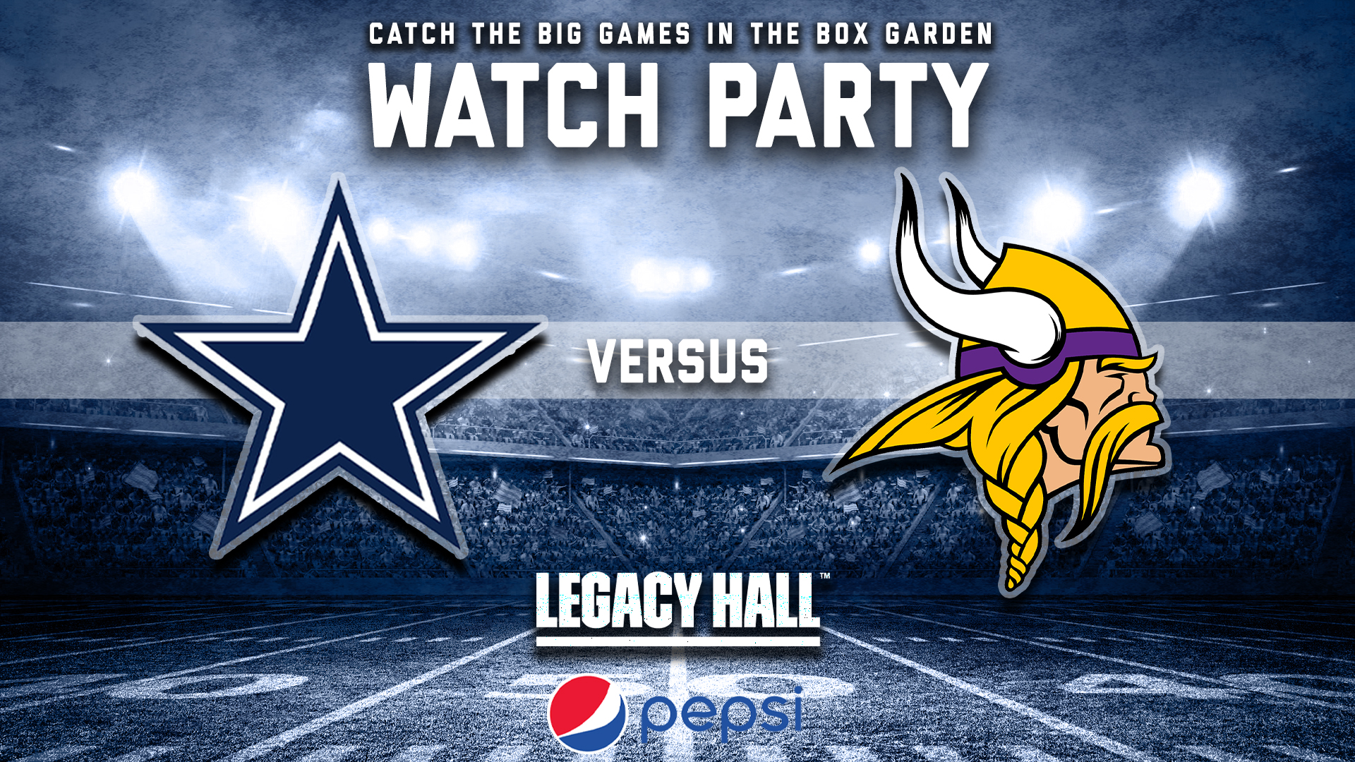 Promo image of Cowboys vs. Vikings Watch Party