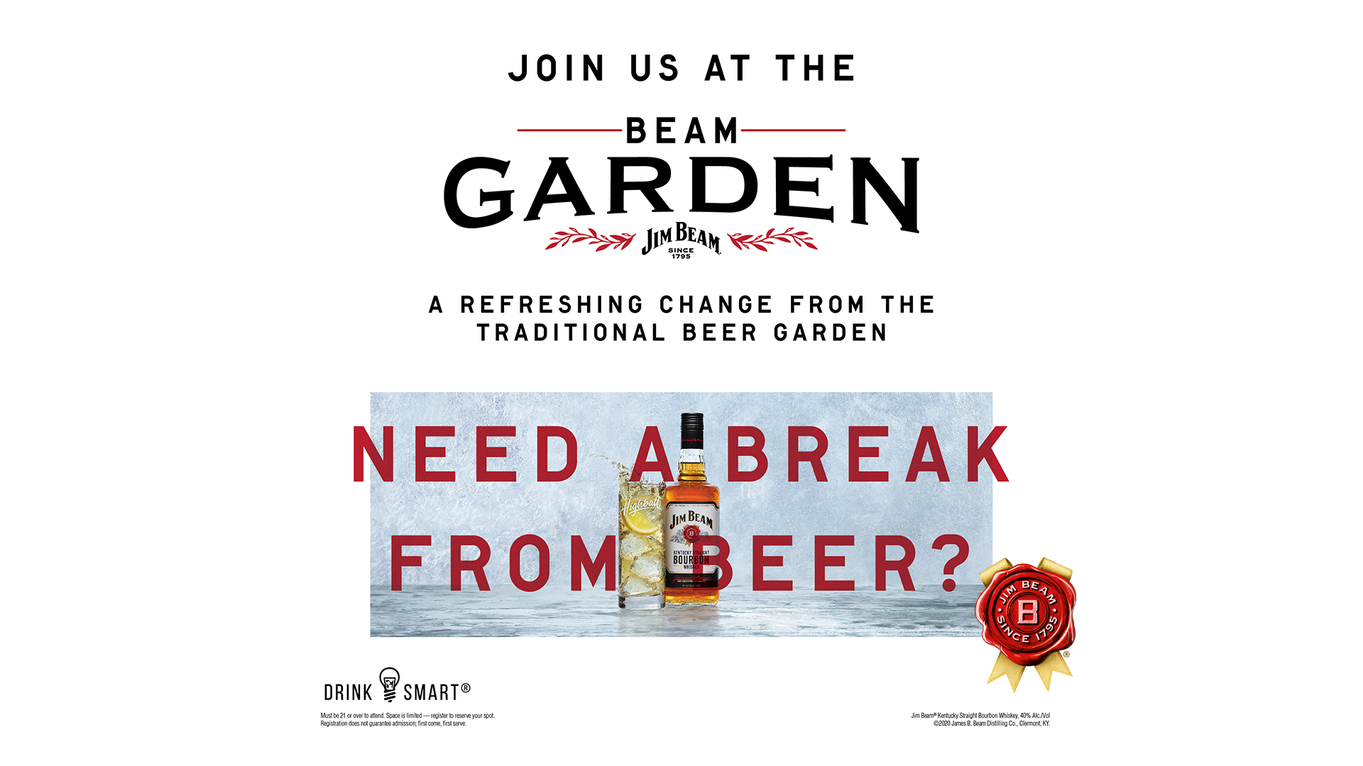 Promo image of Jim Beam® Beam Garden at Legacy Hall