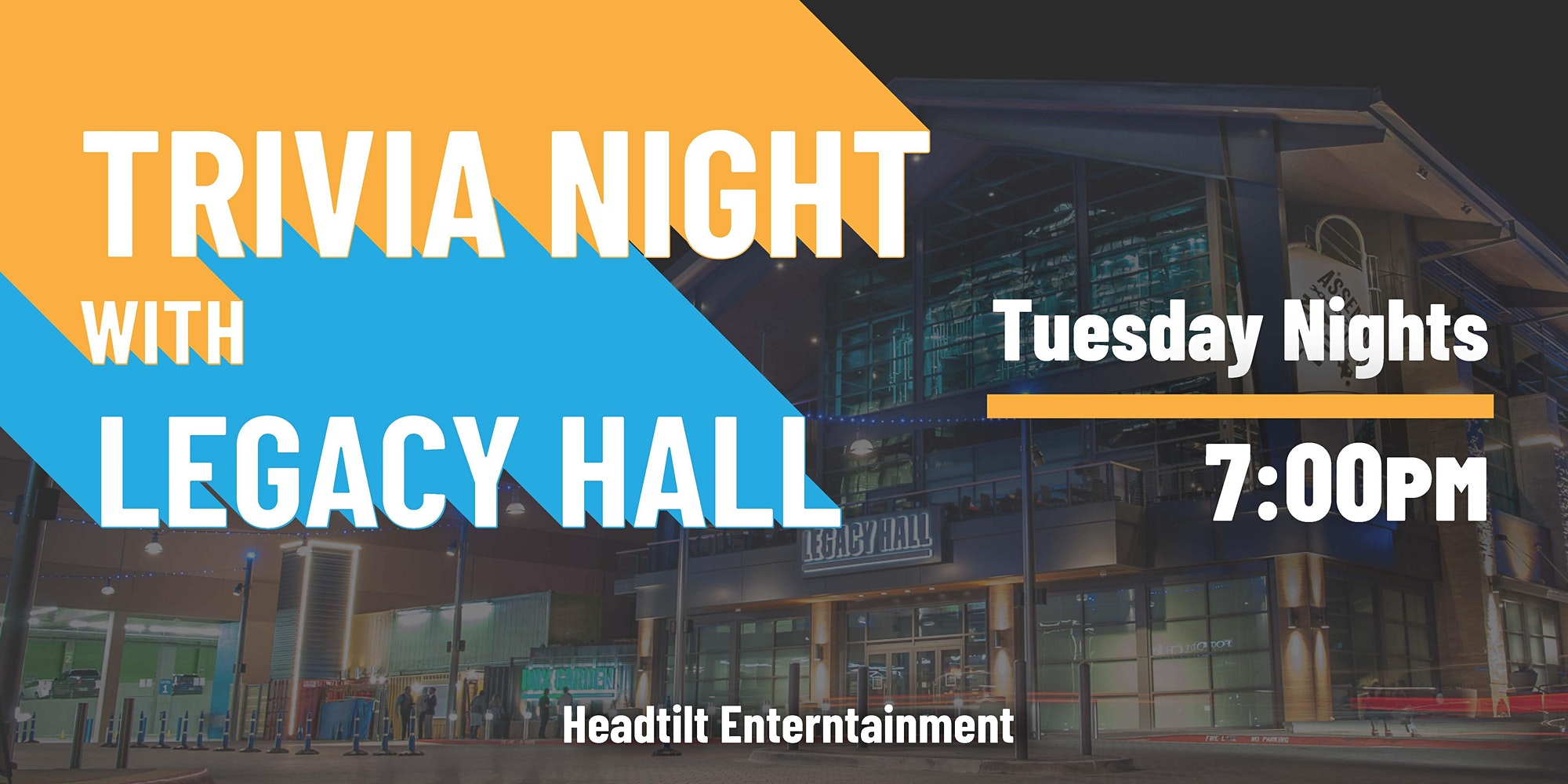 Promo image of Tuesday Trivia at Legacy Hall