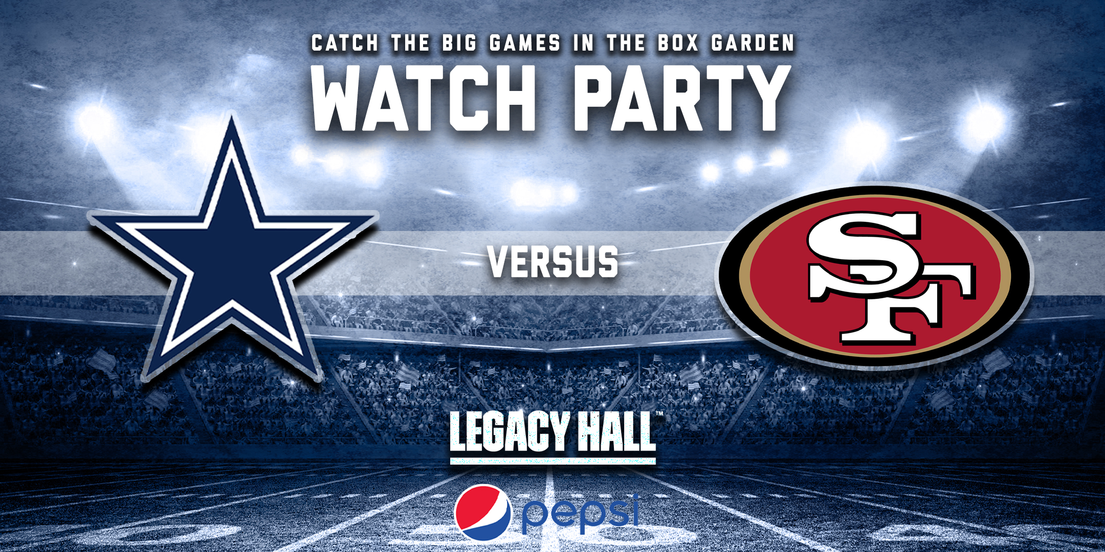 Promo image of Cowboys vs. 49ers Watch Party