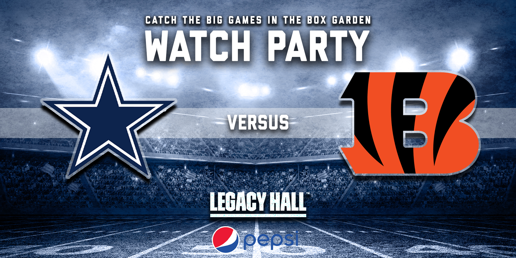 Promo image of Cowboys vs. Bengals Watch Party
