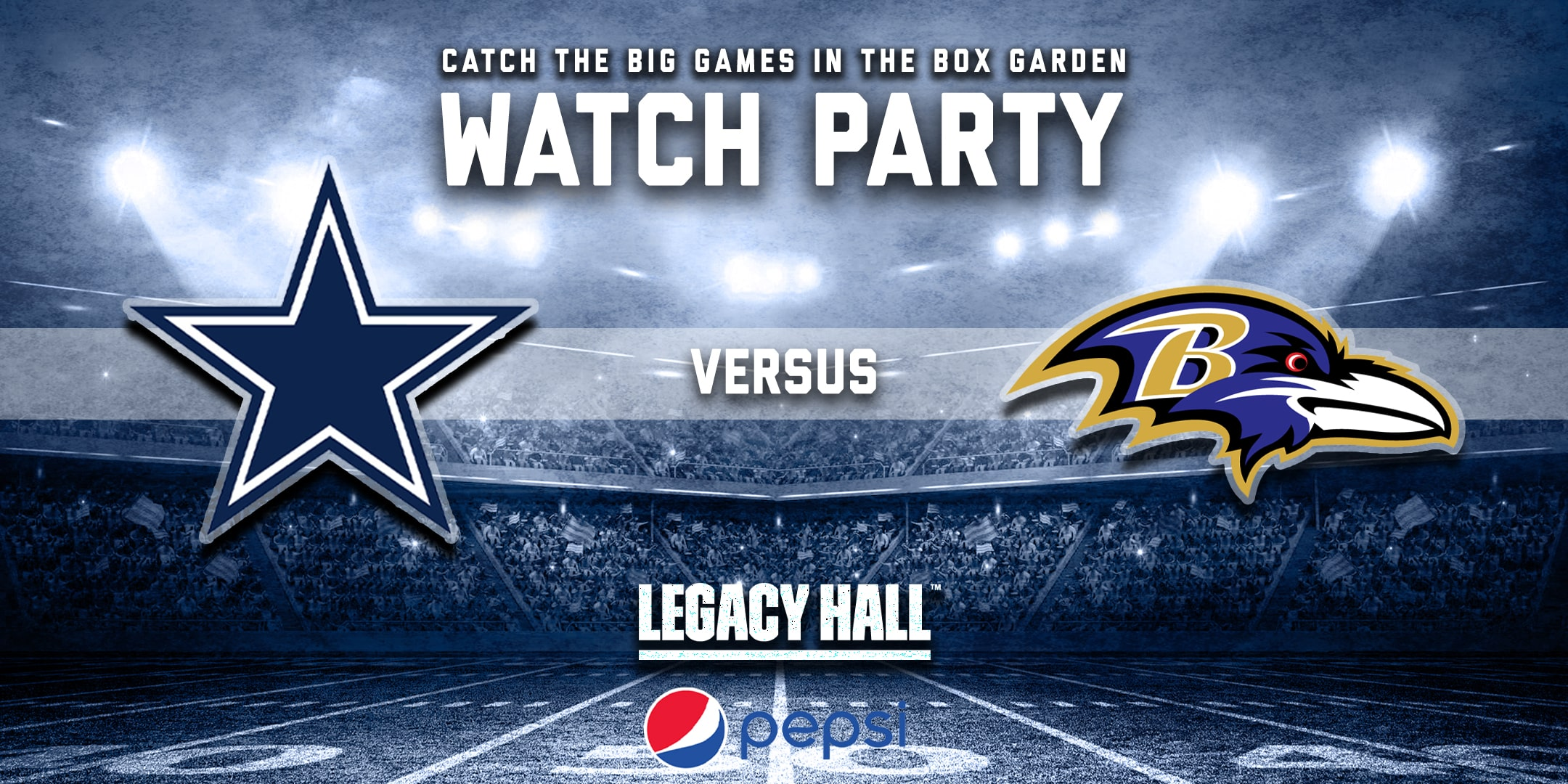 Promo image of Cowboys vs. Ravens Watch Party