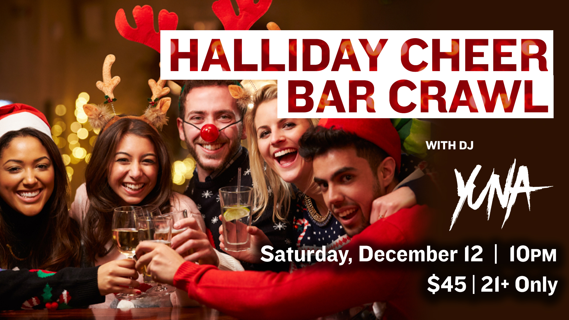 Promo image of Halliday Cheer Bar Crawl