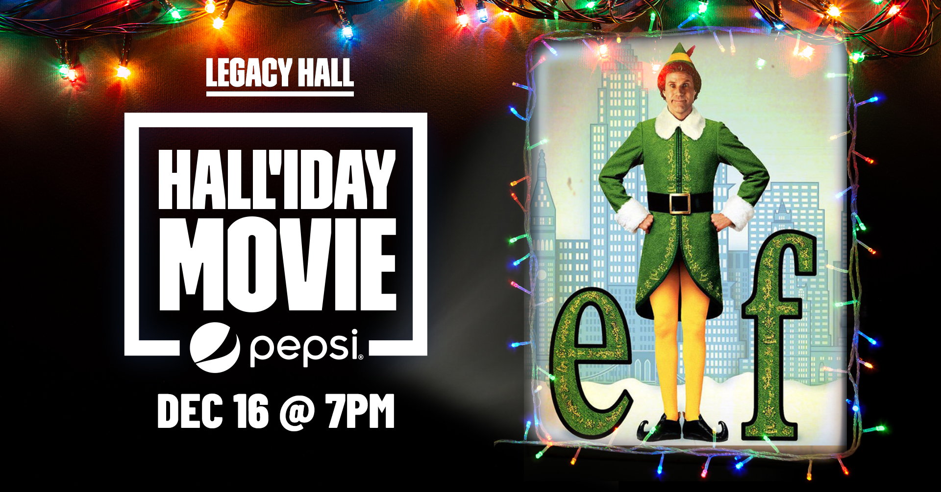 Promo image of Elf Hall'iday Movie Night