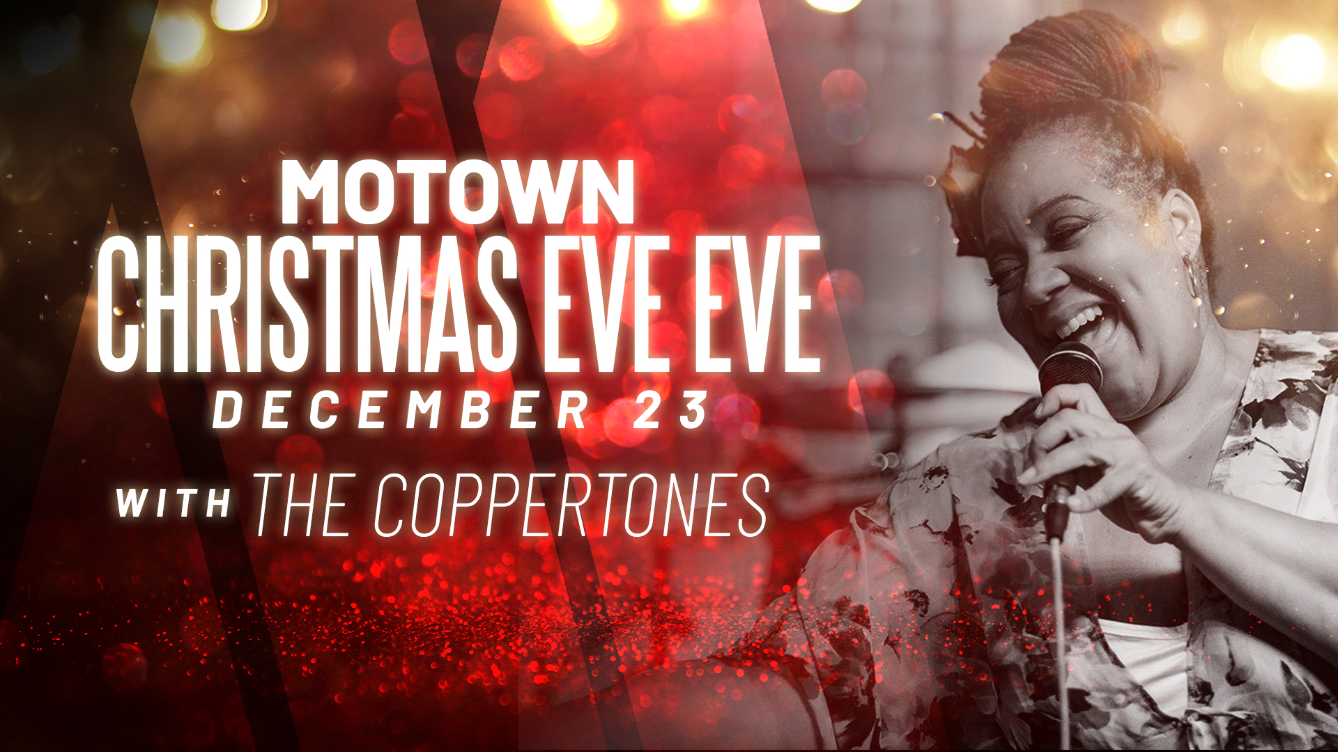 Promo image of Motown Christmas Eve Eve with The Coppertones