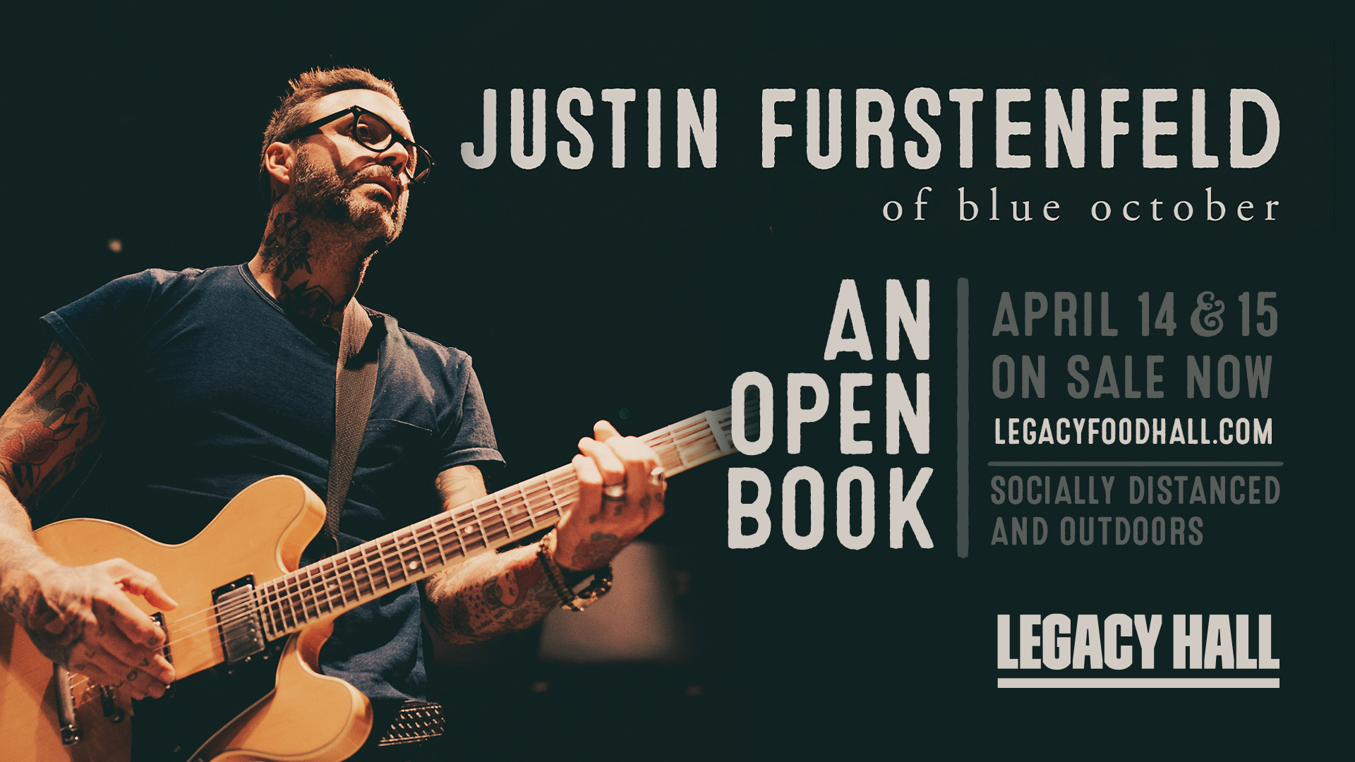 Promo image of SOLD OUT - Justin Furstenfeld of Blue October | April 14