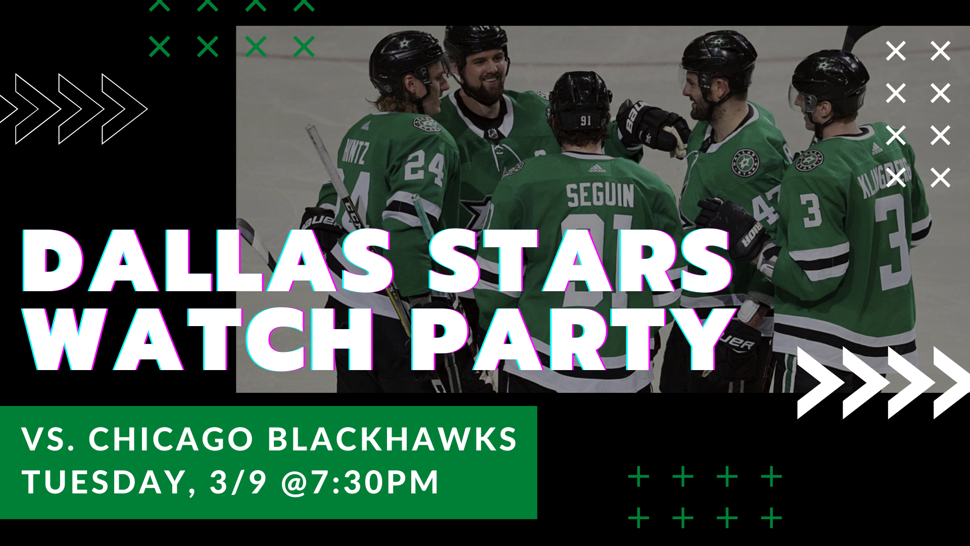 Promo image of Blackhawks v. Stars Watch Party