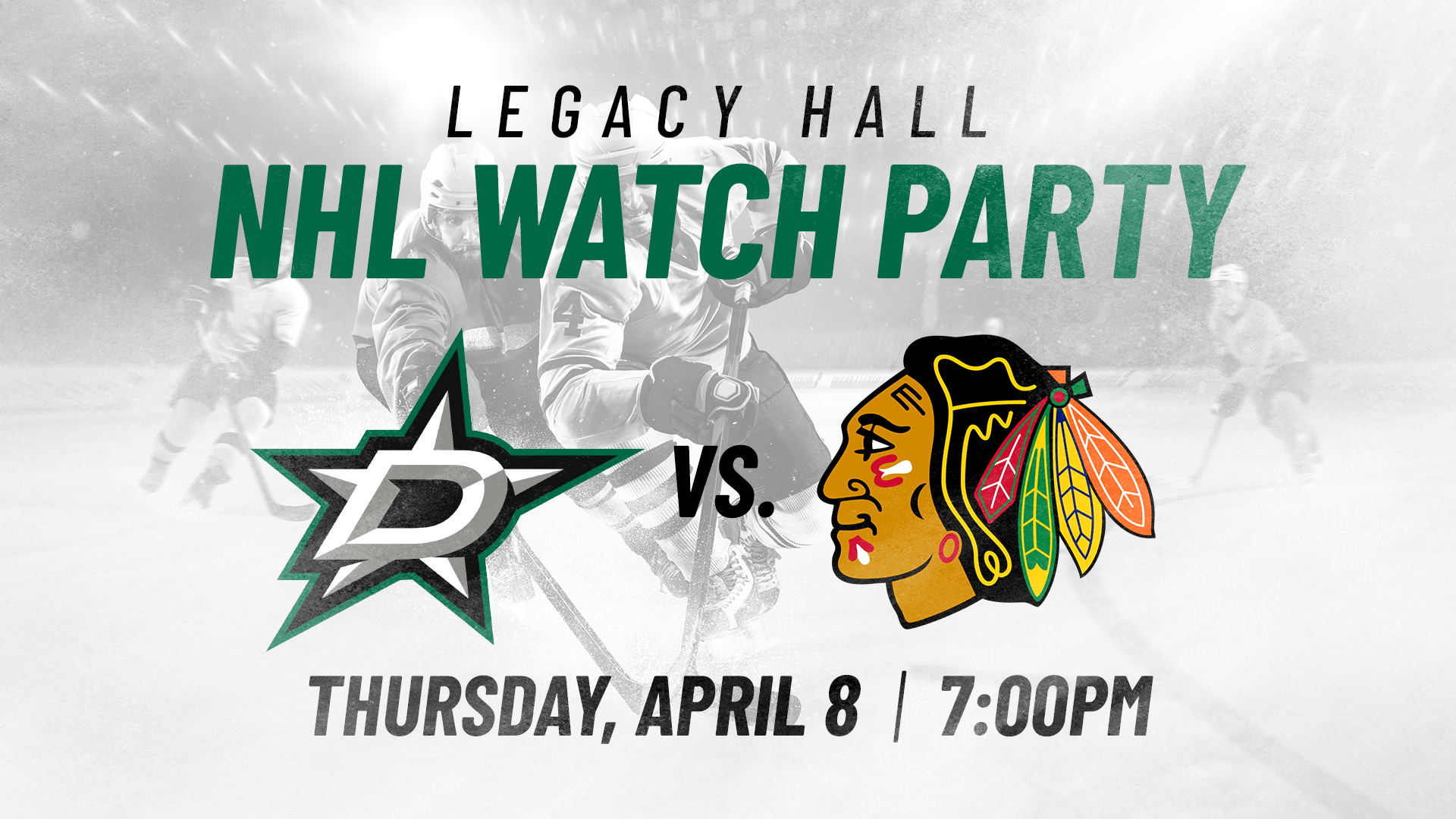 Stars v. Blackhawks Watch Party - hero