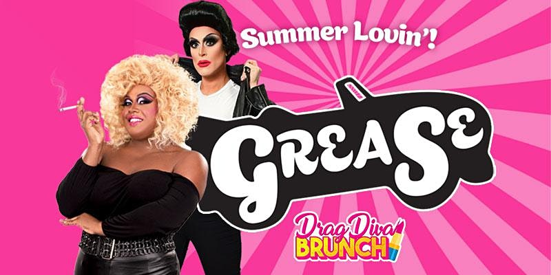 Promo image of Grease Drag Brunch at Legacy Hall
