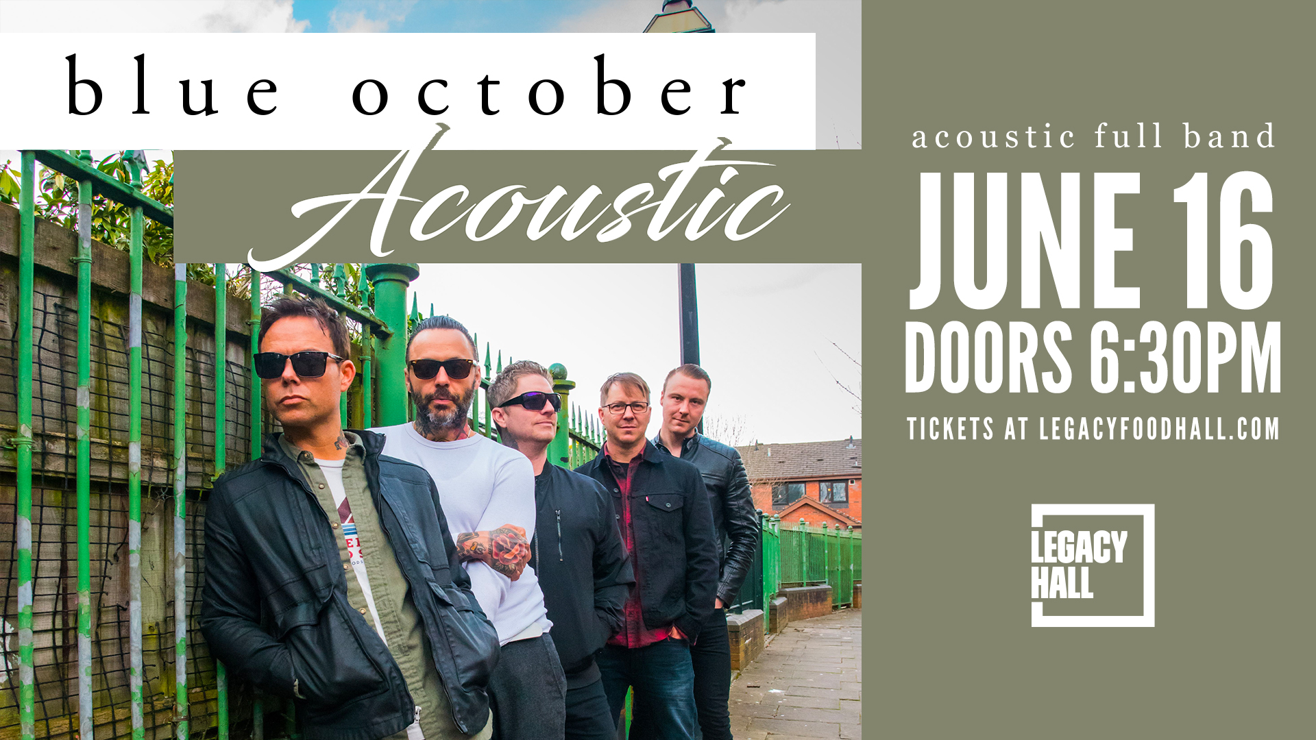 Promo image of Blue October I June 16
